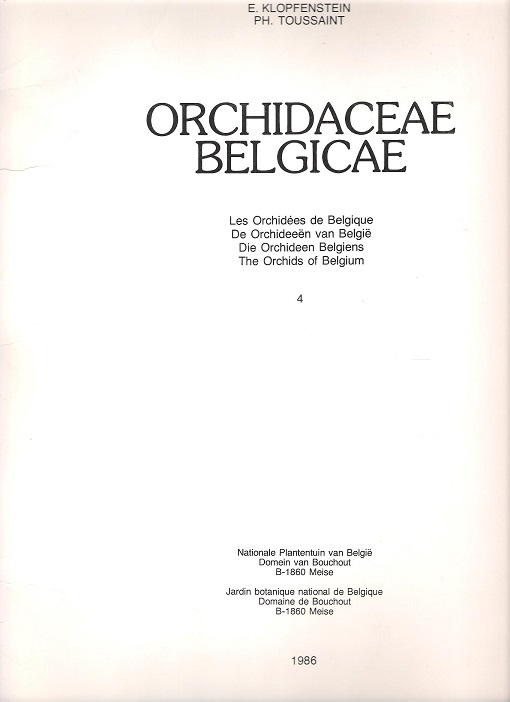 Image for Orchidaceae Belgicae.