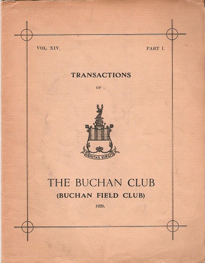 Image for Transactions of The Buchan Club, Vol. XIV, Part 1.