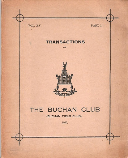 Image for Transactions of The Buchan Club, Vol. XV, Part 1.