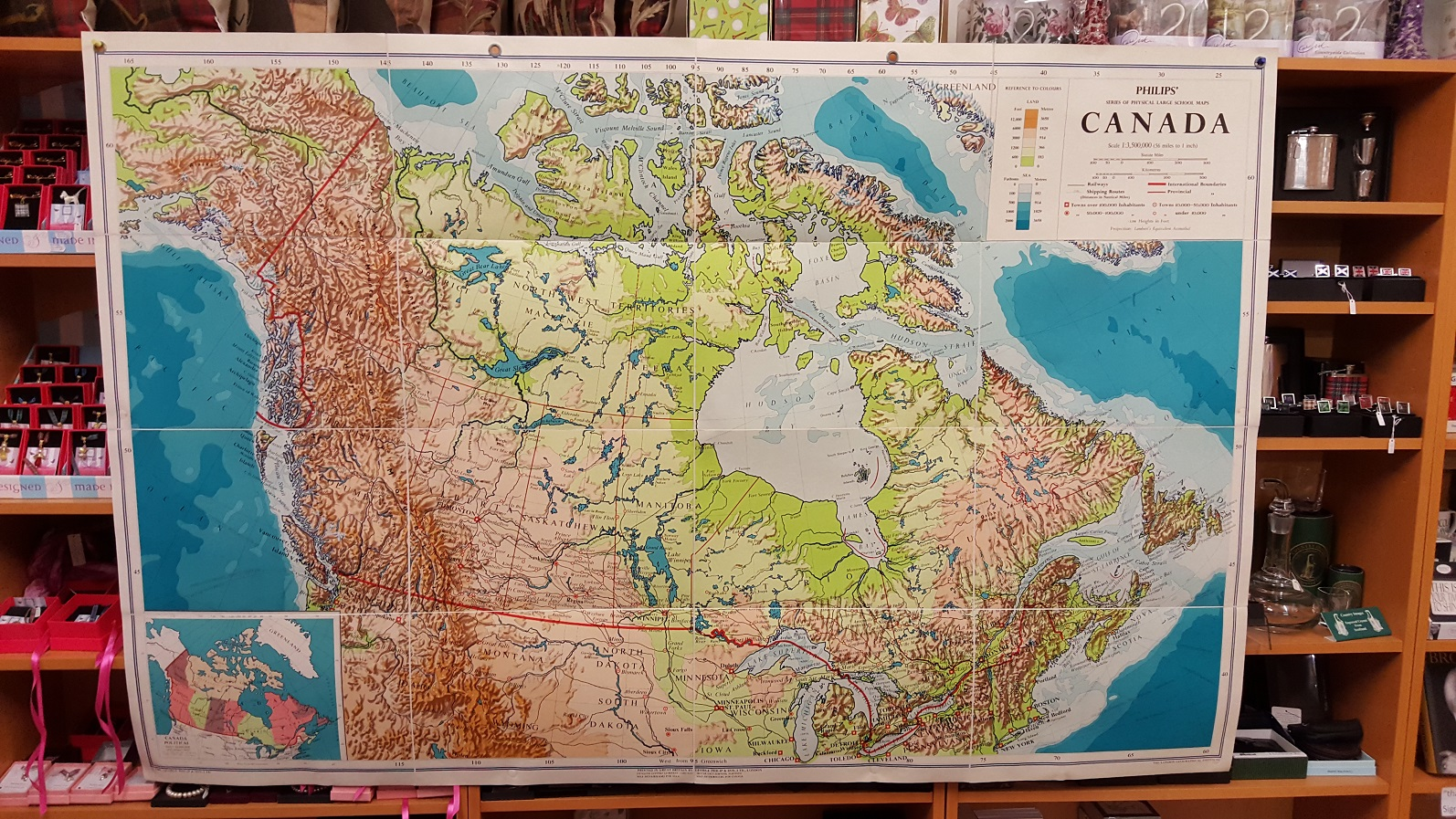 Image for Philips' Large School-Room Map of Canada - Physical