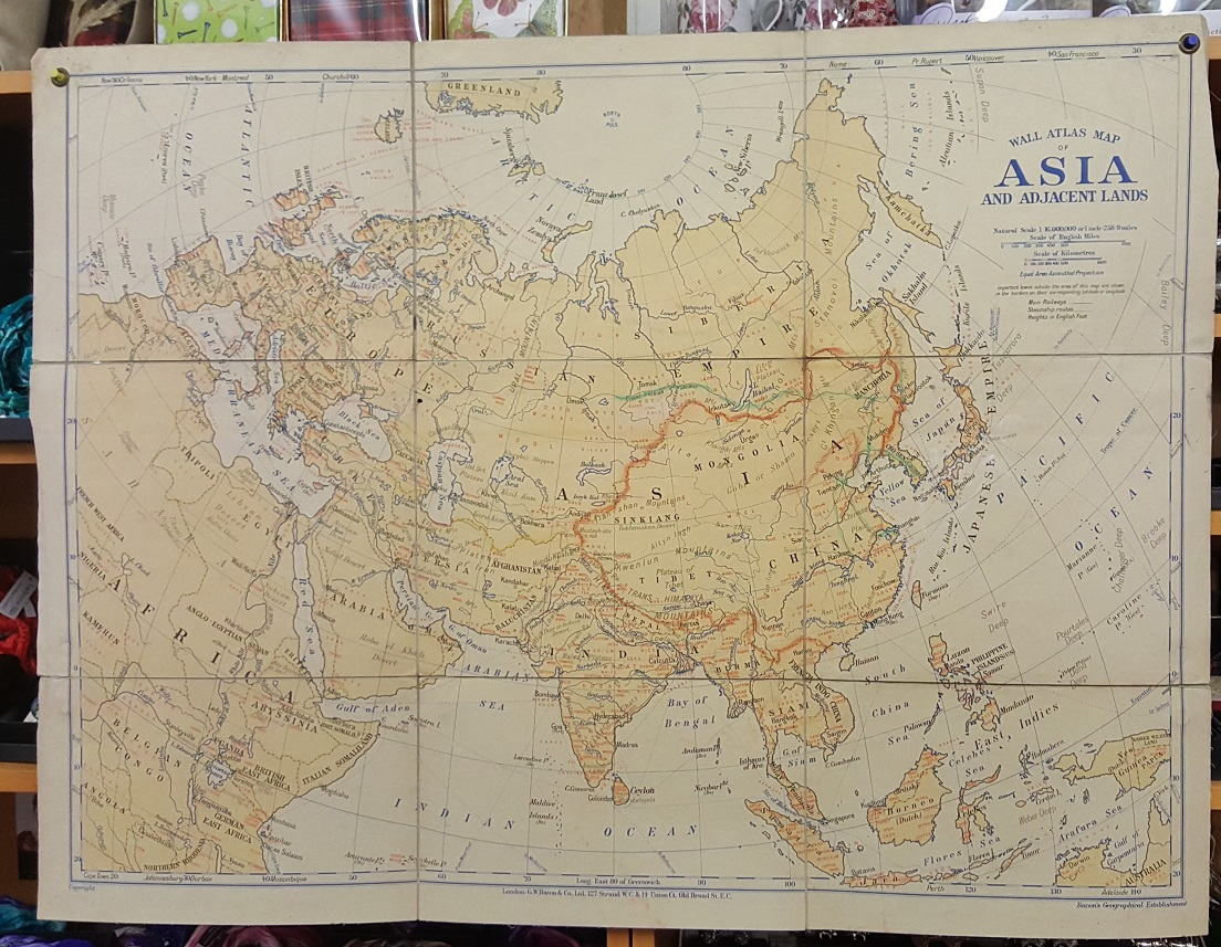 Image for G.W. Bacon Wall Atlas of Asia and Adjacent Lands - Produce