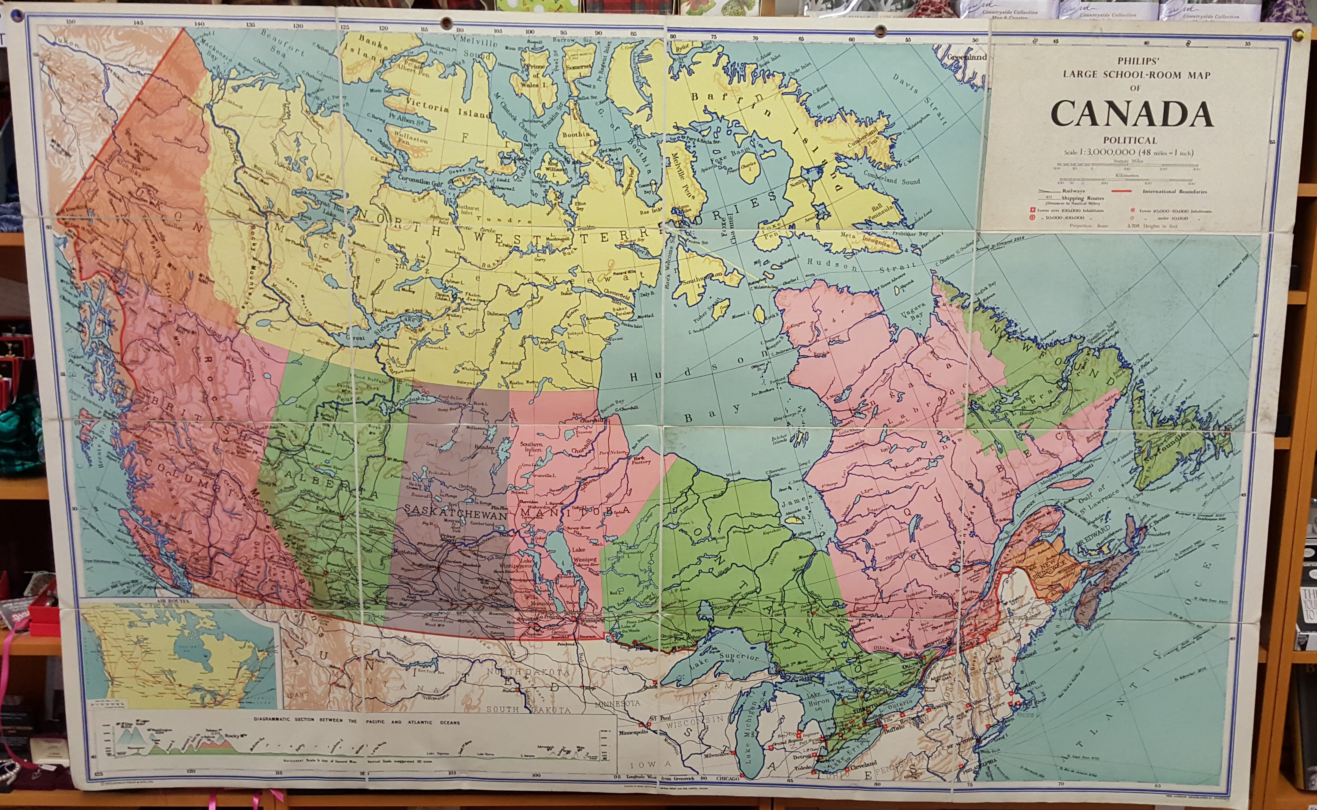 Image for Philips' Large School-Room Map of Canada - Political