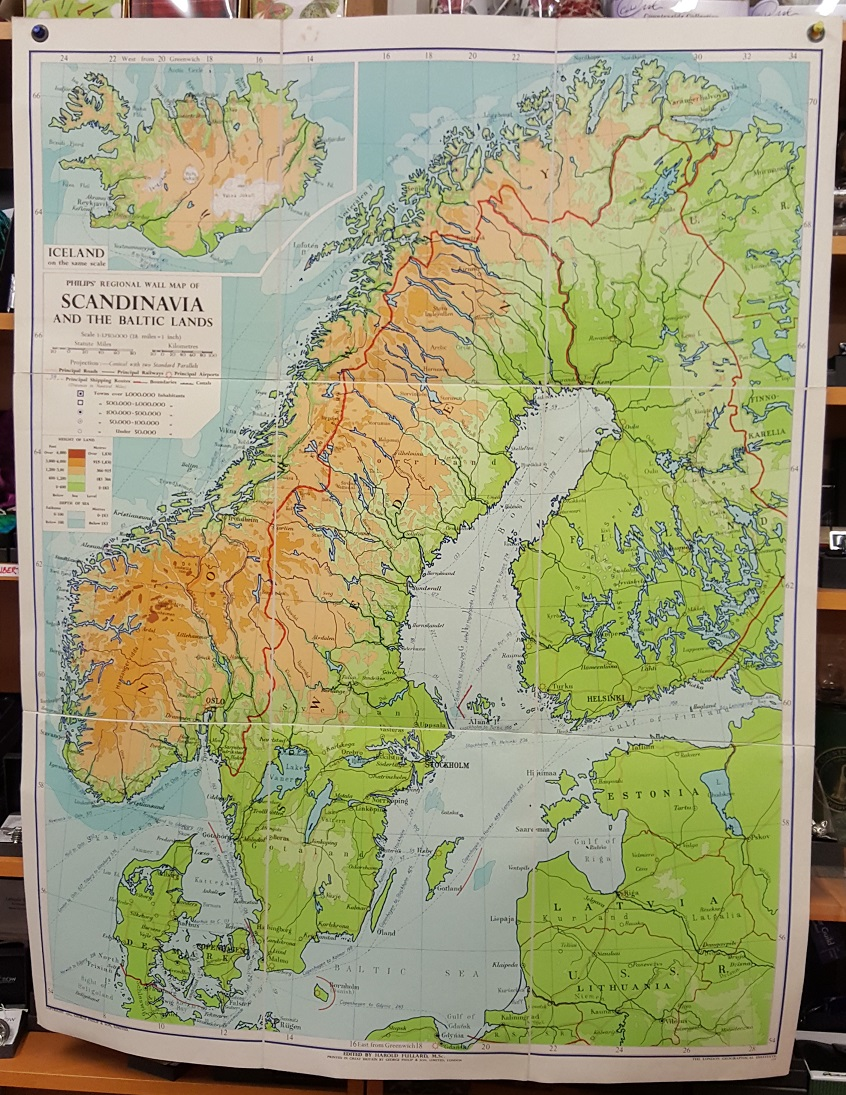 Image for Philips' Regional Wall Map of Scandinavia.