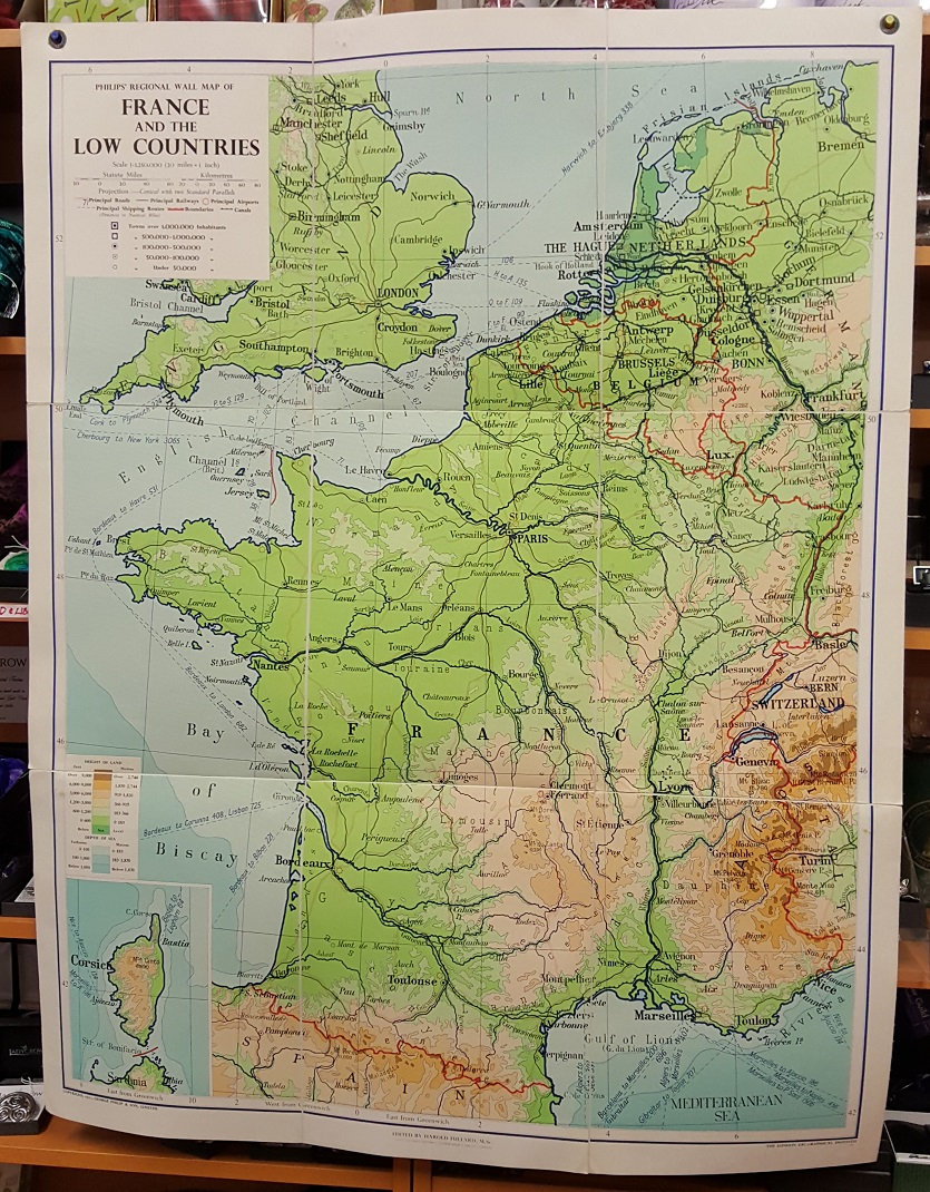 Image for Philips' Regional Wall Map of France and the Low Countries - Physical