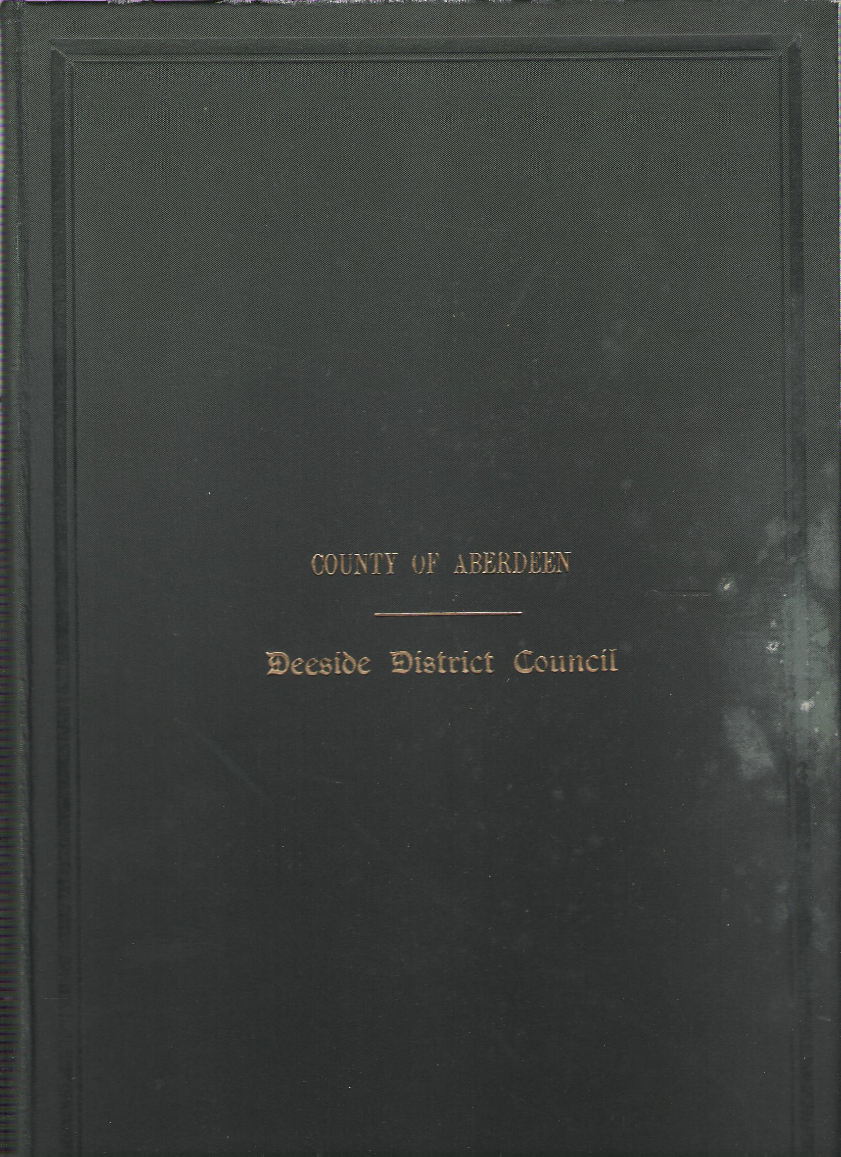 Image for Minutes and Proceedings of the Deeside District Council 1930-31.
