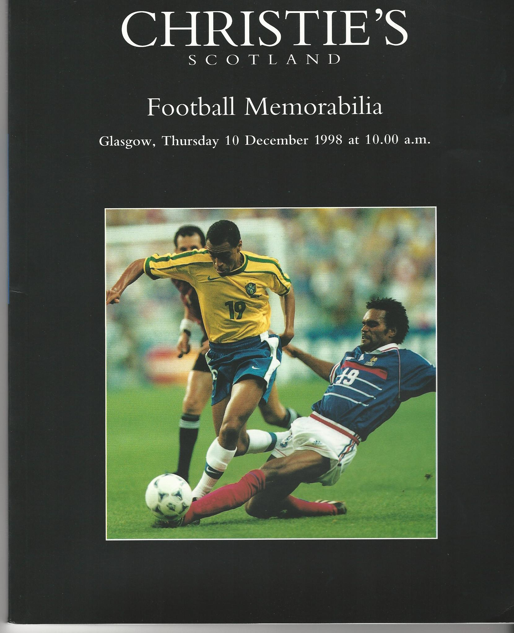 Image for Christie's Scotland: Football Memorabilia Glasgow, Thursday 10 December 1998.