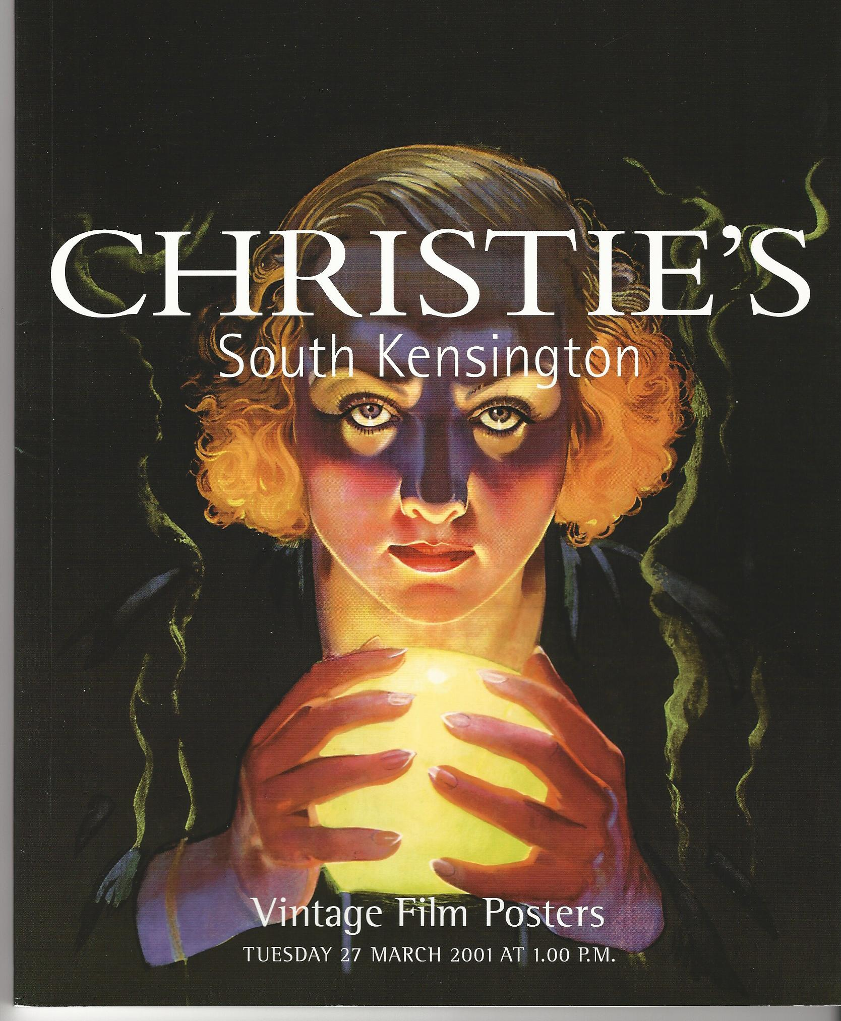 Image for Christie's South Kensington Vintage Film Posters, 27 March 2001.