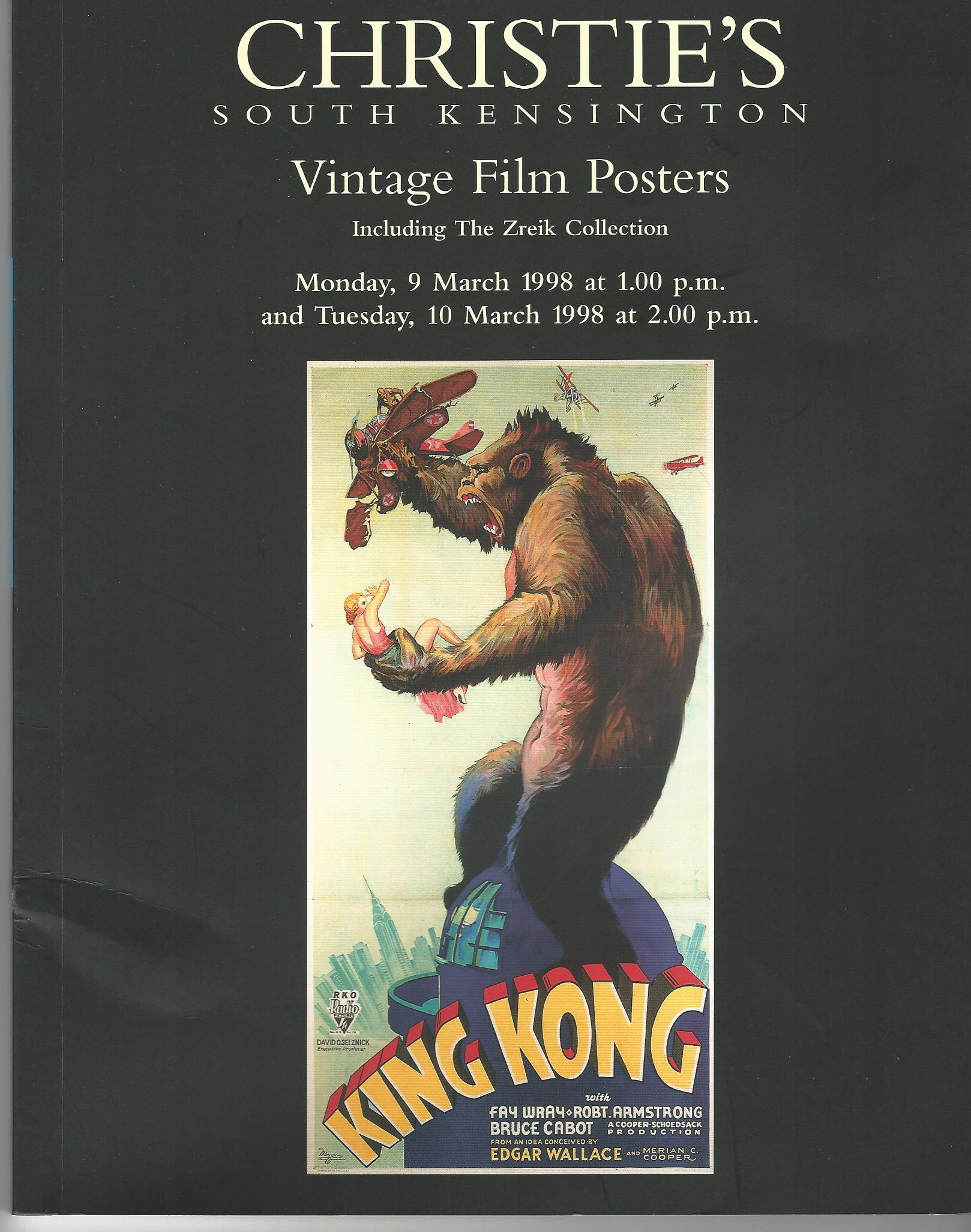Image for Christie's South Kensington Vintage Film Posters, 9 & 10 March 1998