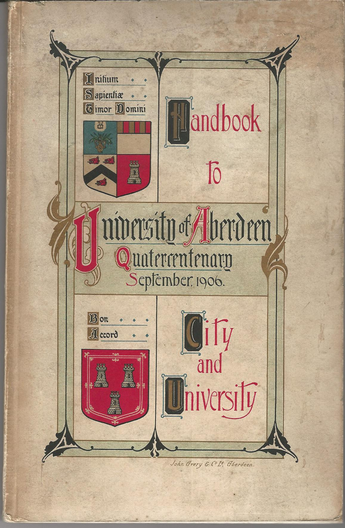Image for Handbook to University of Aberdeen Quartercentenary September 1906.