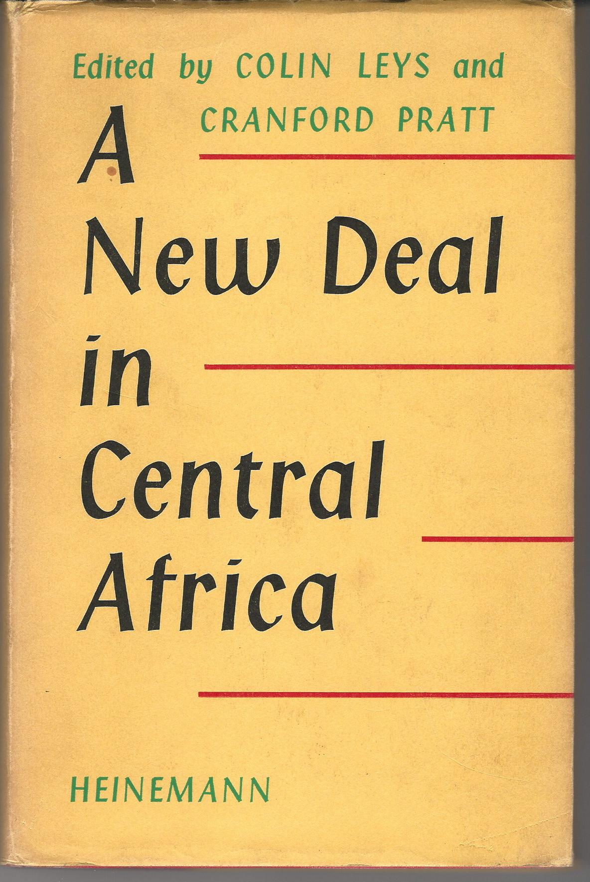 Image for A New Deal in Central Africa.