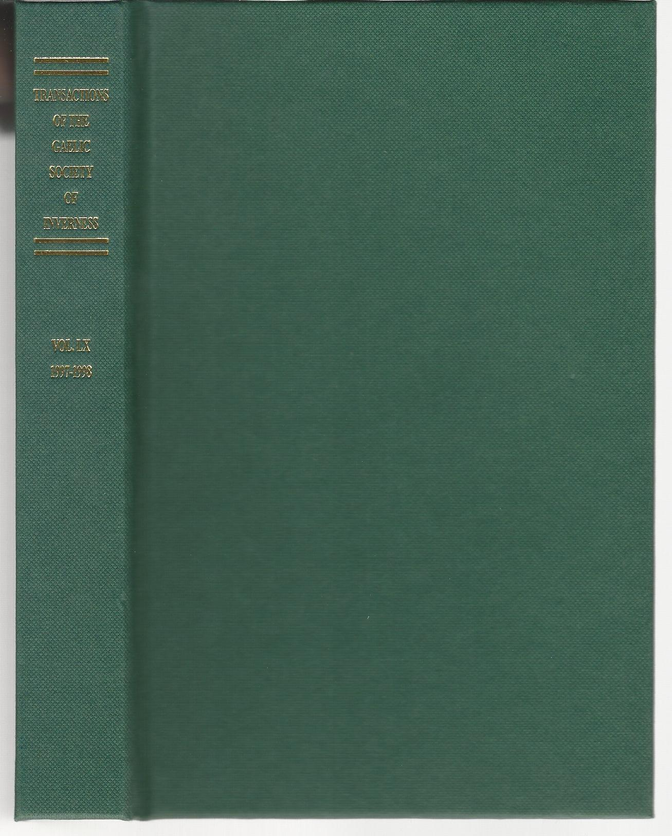 Image for Transactions of the Gaelic Society of Inverness: Volume LX 1997-1998