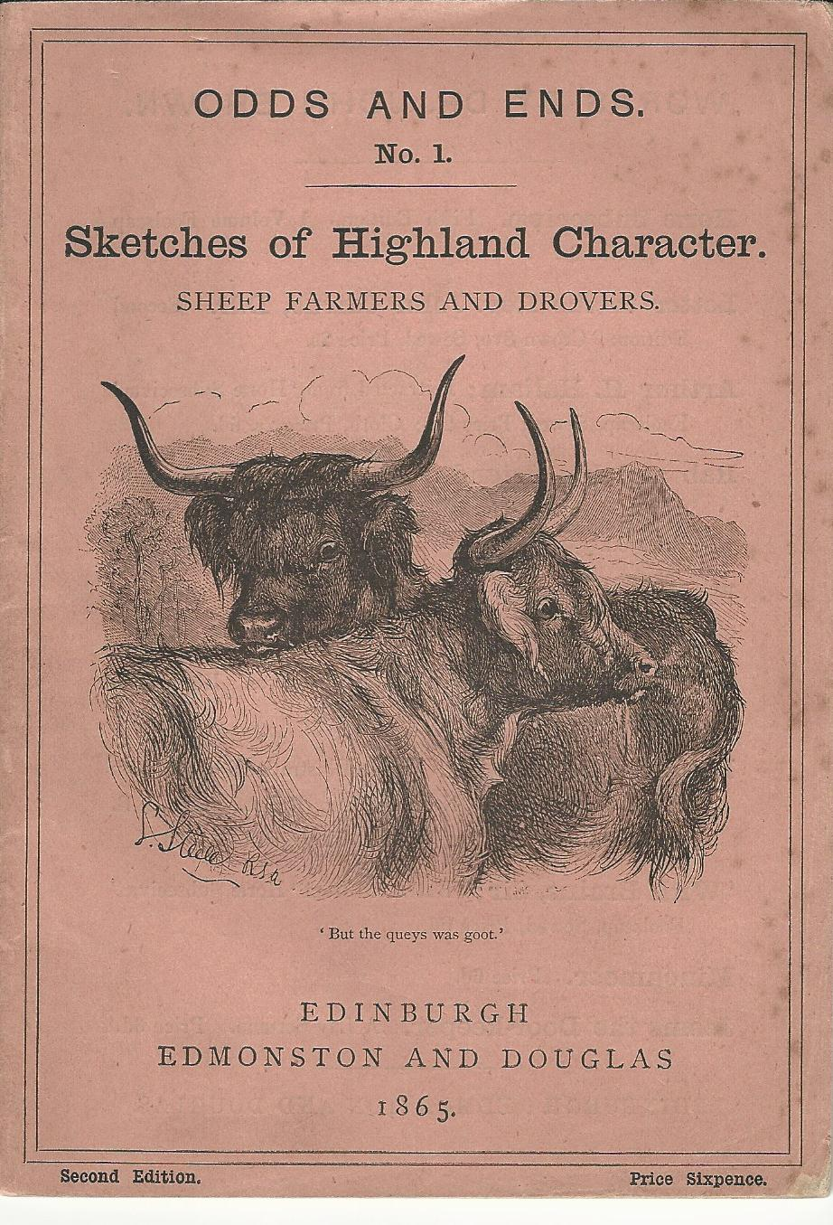 Image for Odds and Ends No.1: Sketches of Highland Character: Sheep Farmers and Drovers