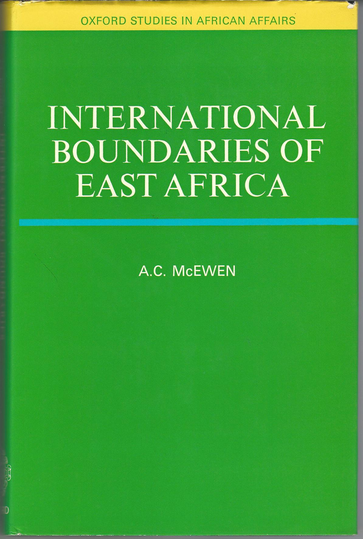 Image for International Boundaries of East Africa.