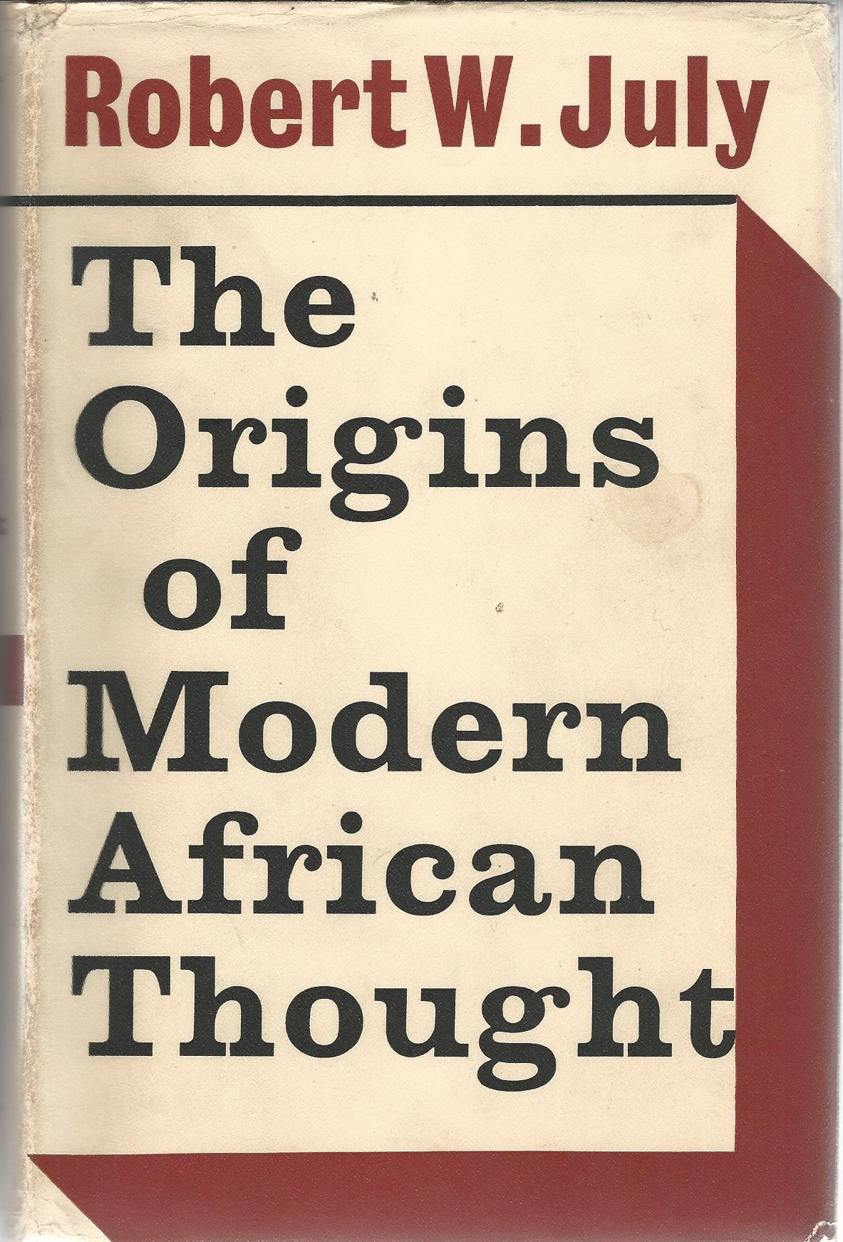 Image for The Origins of Modern African Thought,