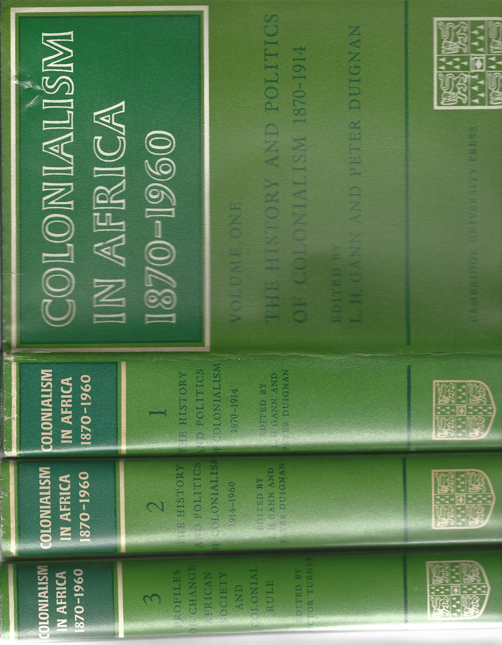 Image for Colonialism in Africa 1870-1960 (3 Volumes)