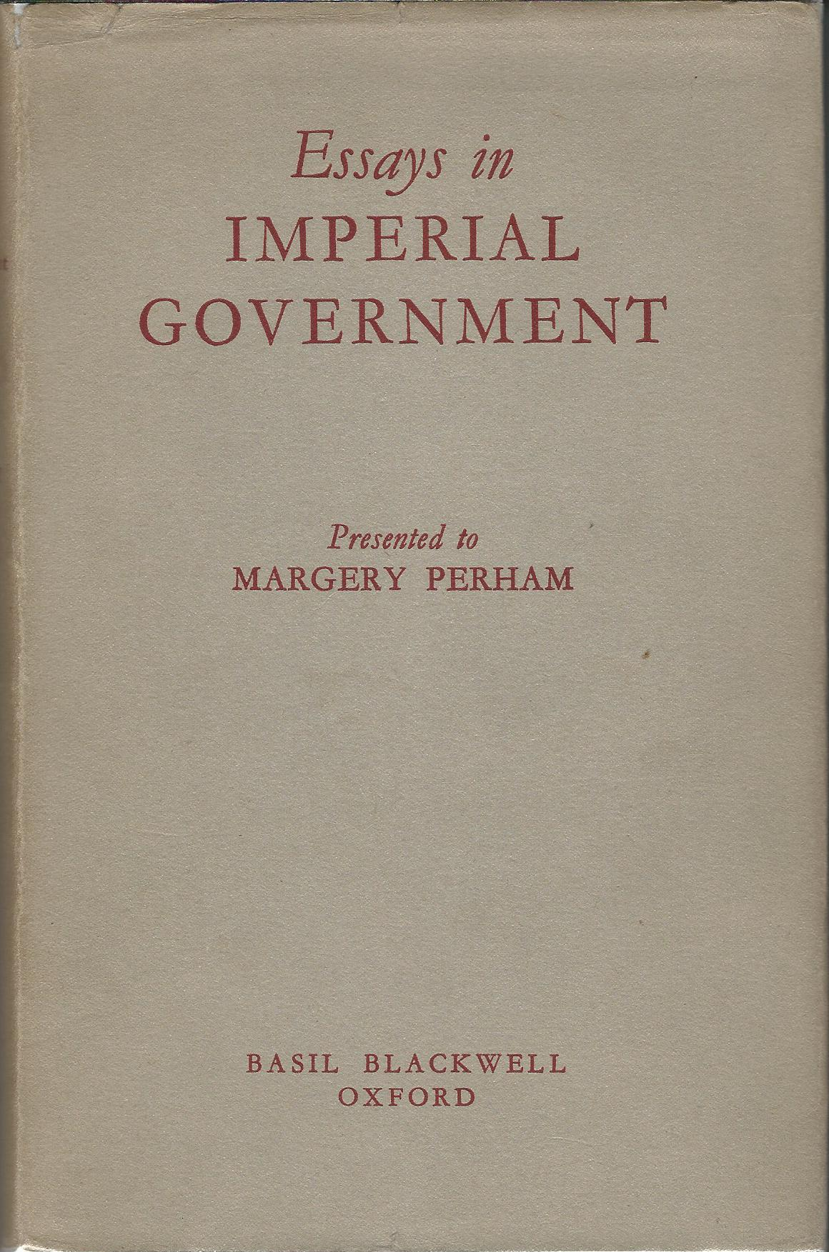 Image for Essays in Imperial Government.