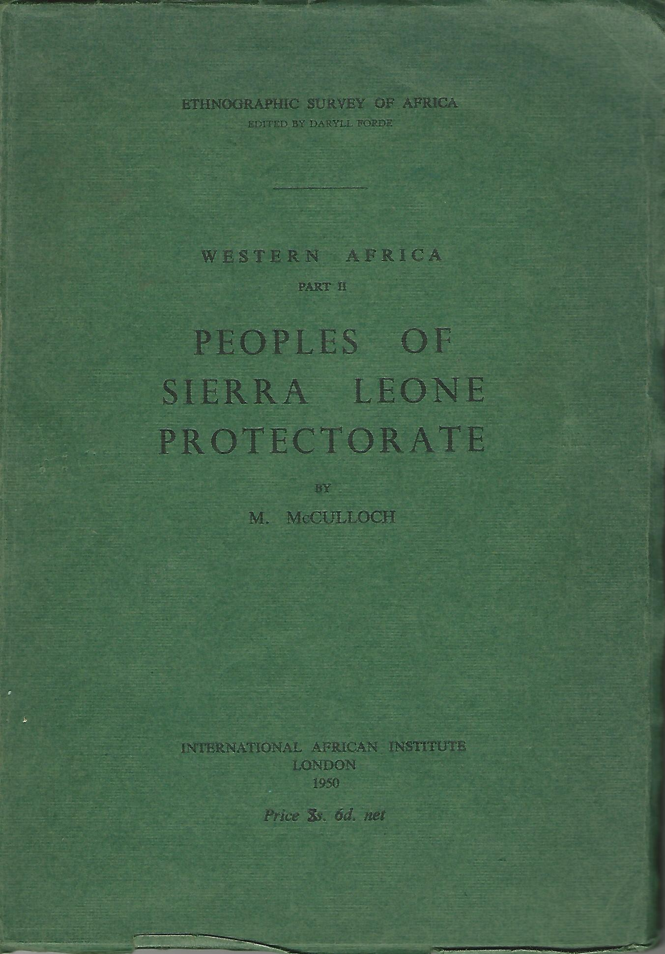 Image for Peoples of Sierra Leone Protectorate.