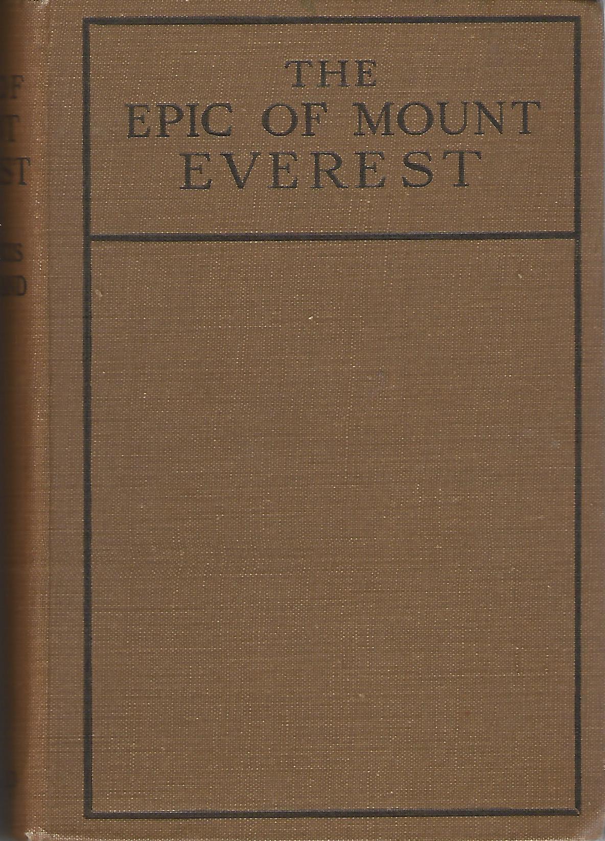 Image for The Epic of Mount Everest
