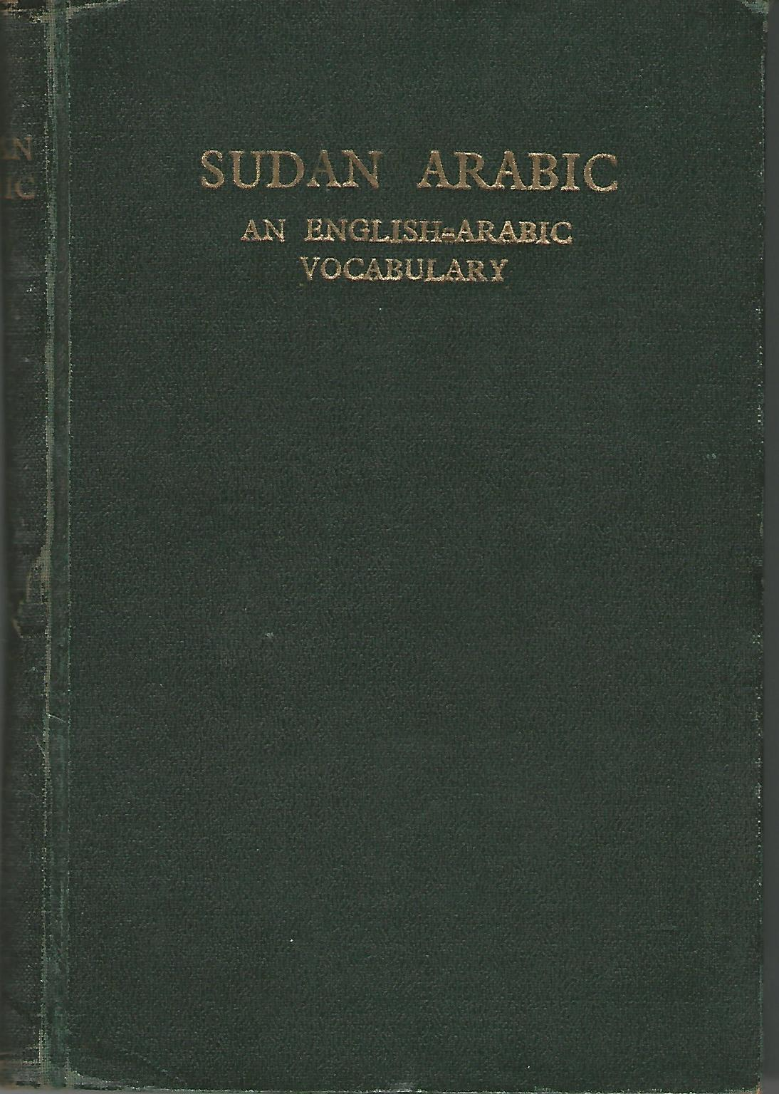 Image for Sudan Arabic: An English-Arabic Vocabulary.