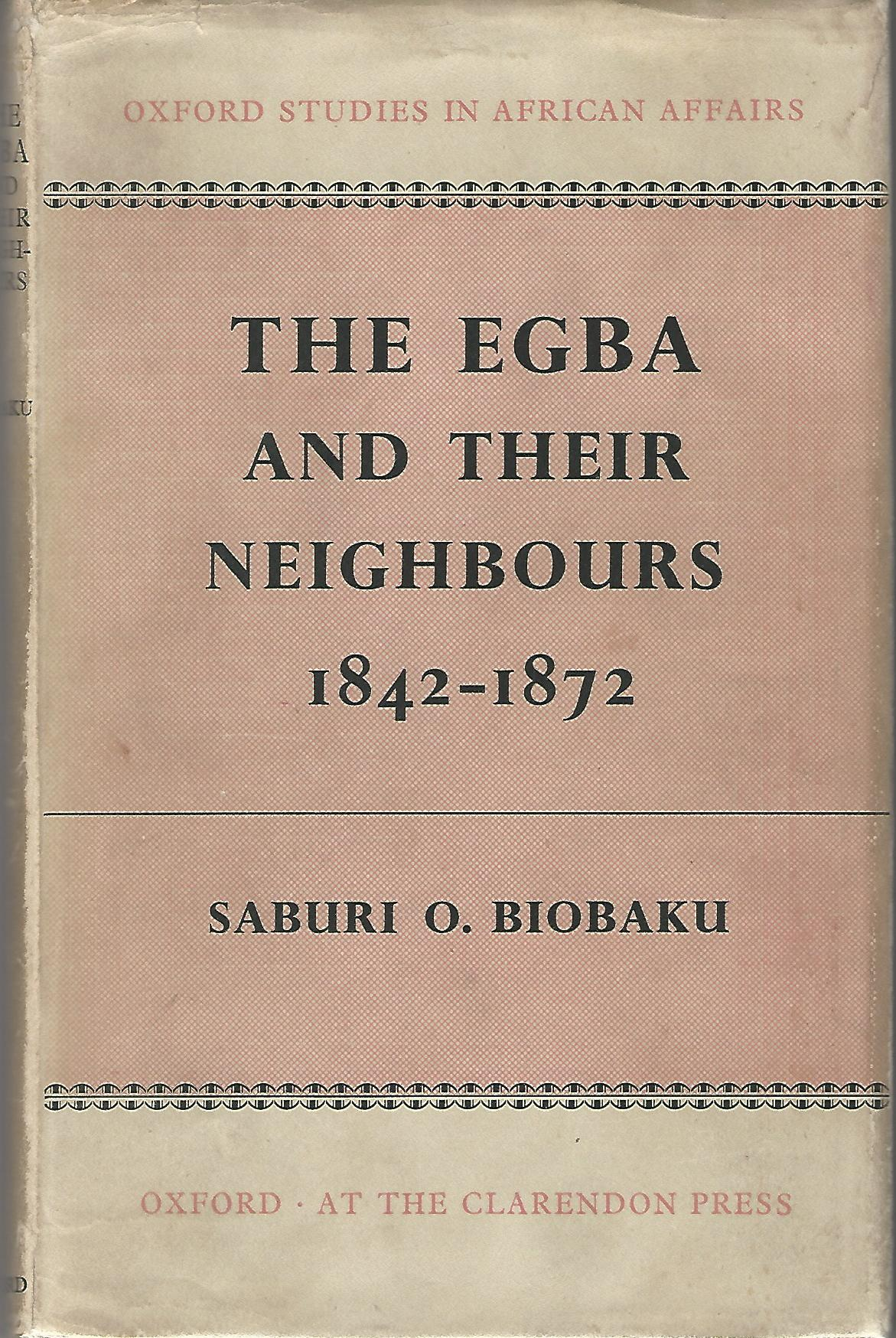 Image for The Egba and their Neighbours 1842-1872.