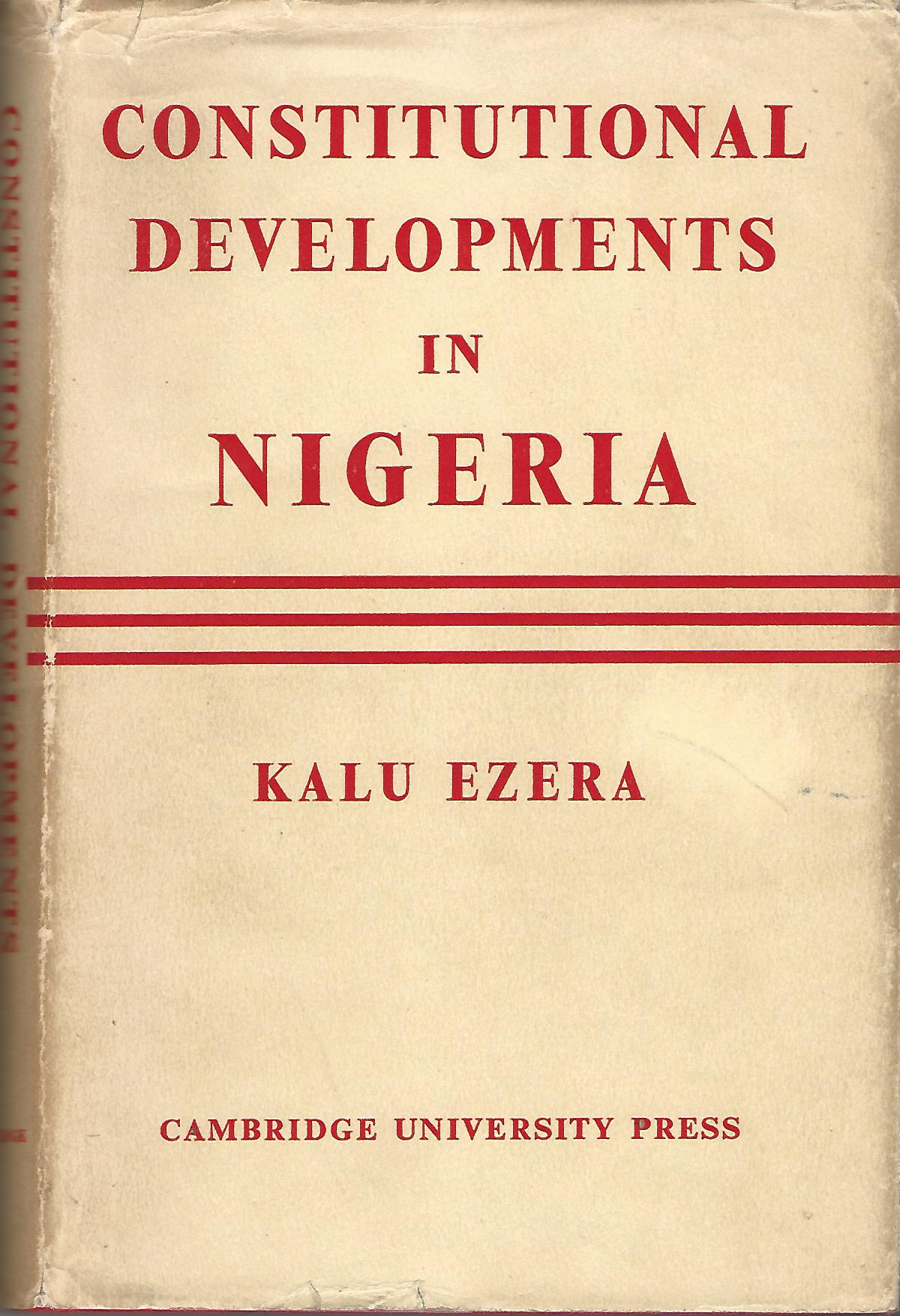 Image for Constitutional Developments in Nigeria.