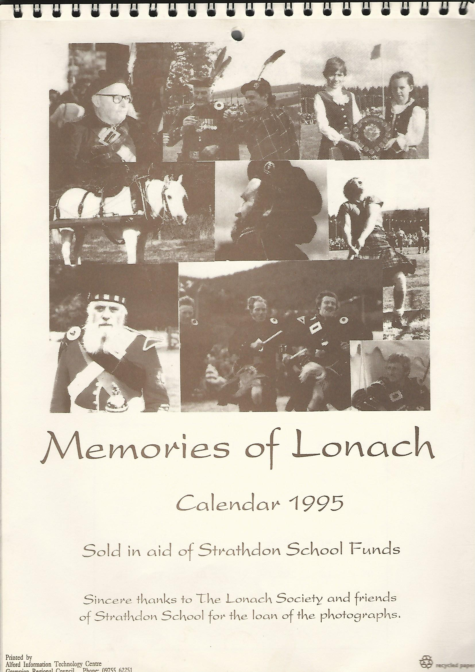 Image for Memories of Lonach Calendar 1995.
