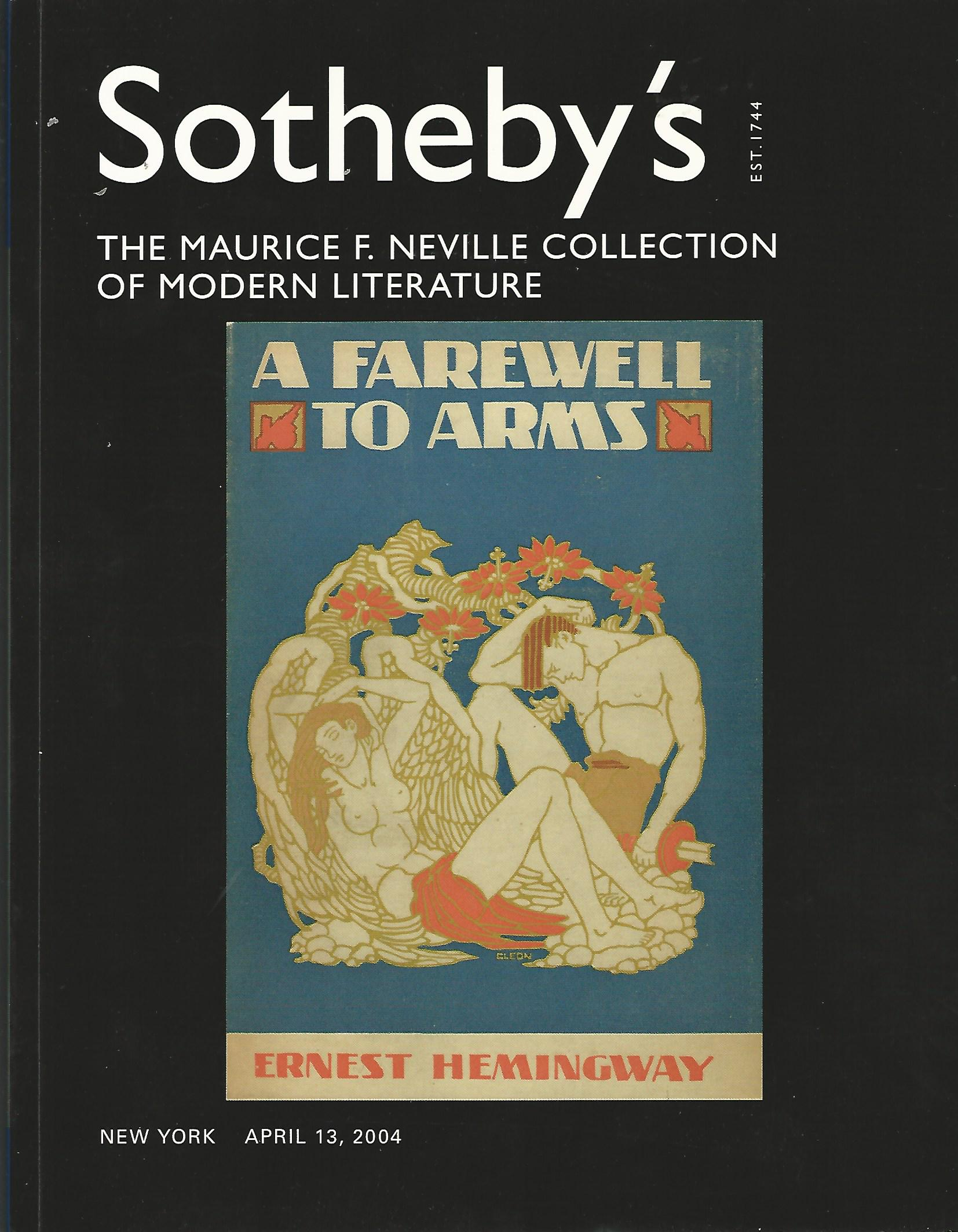 Image for Sotheby's: The Maurice F. Neville Collection of Modern Literature.