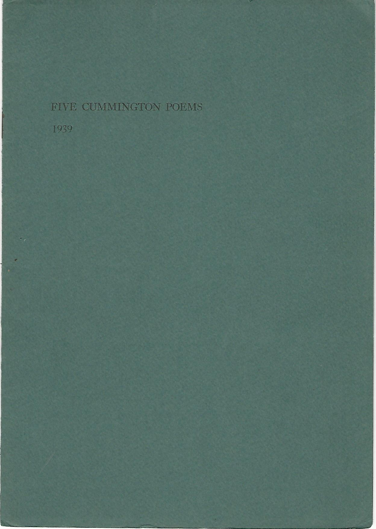 Image for Five Cummington Poems