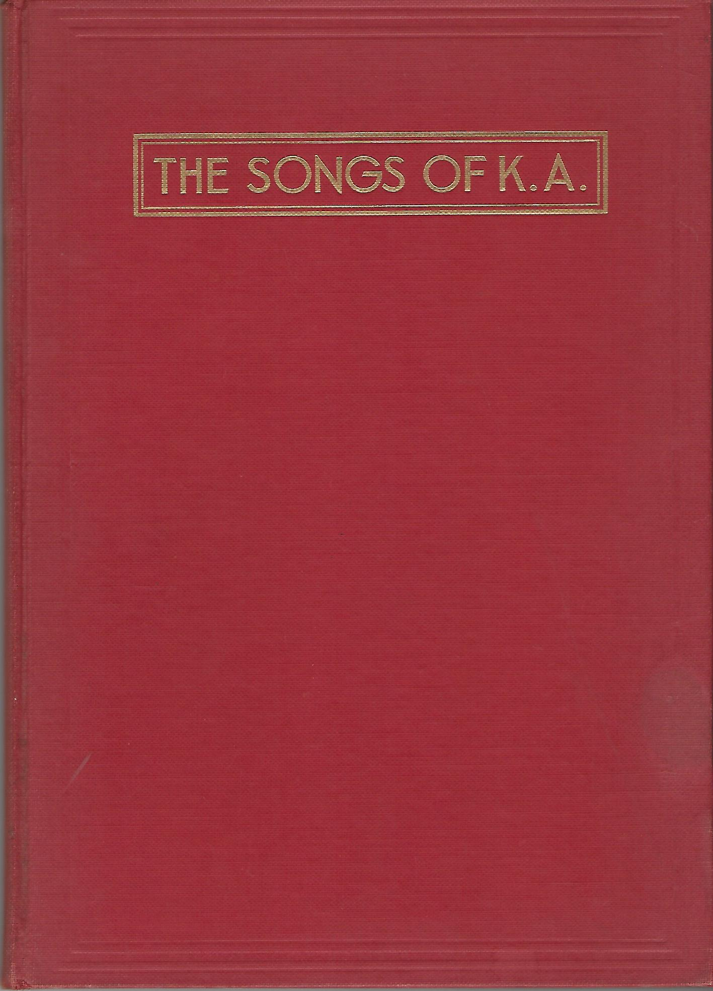 Image for The Songs of Kappa Alpha
