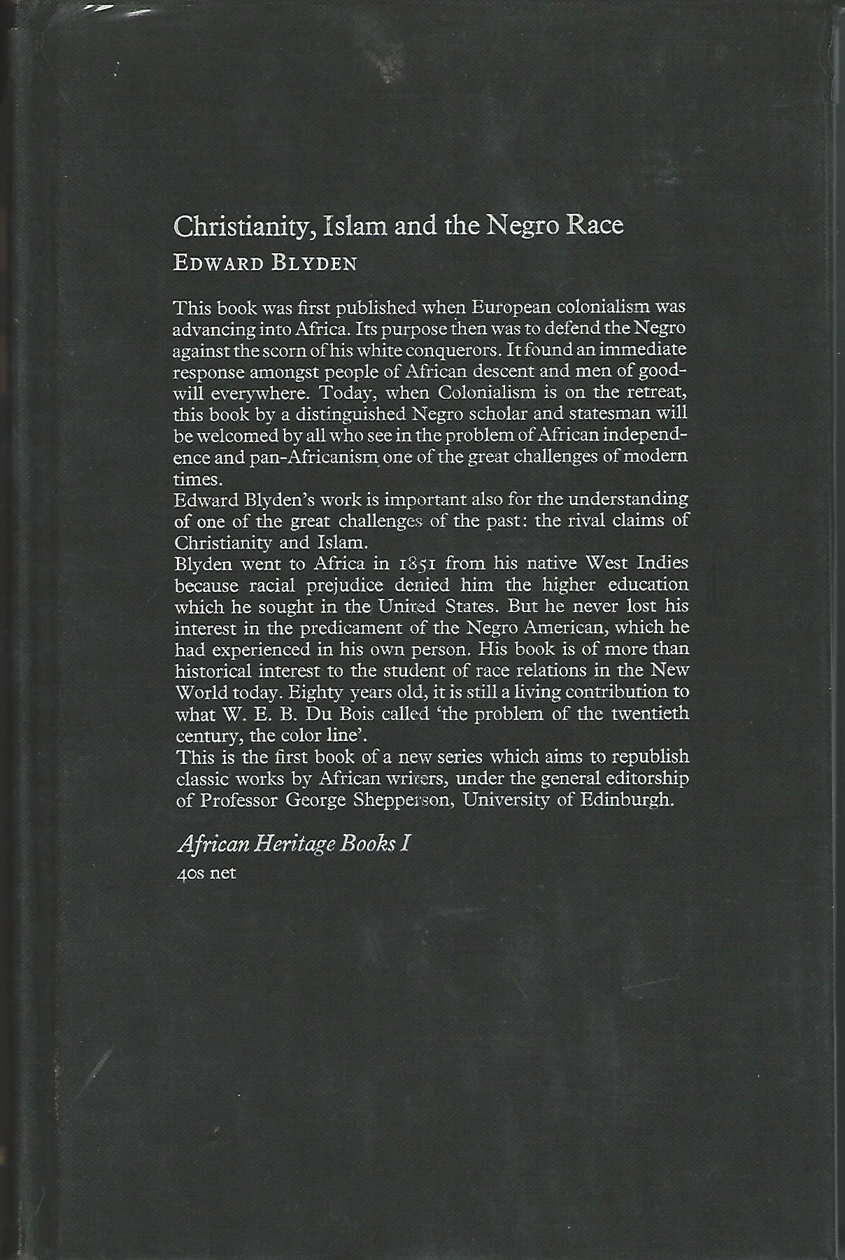 Image for Christianity, Islam and the Negro Race.