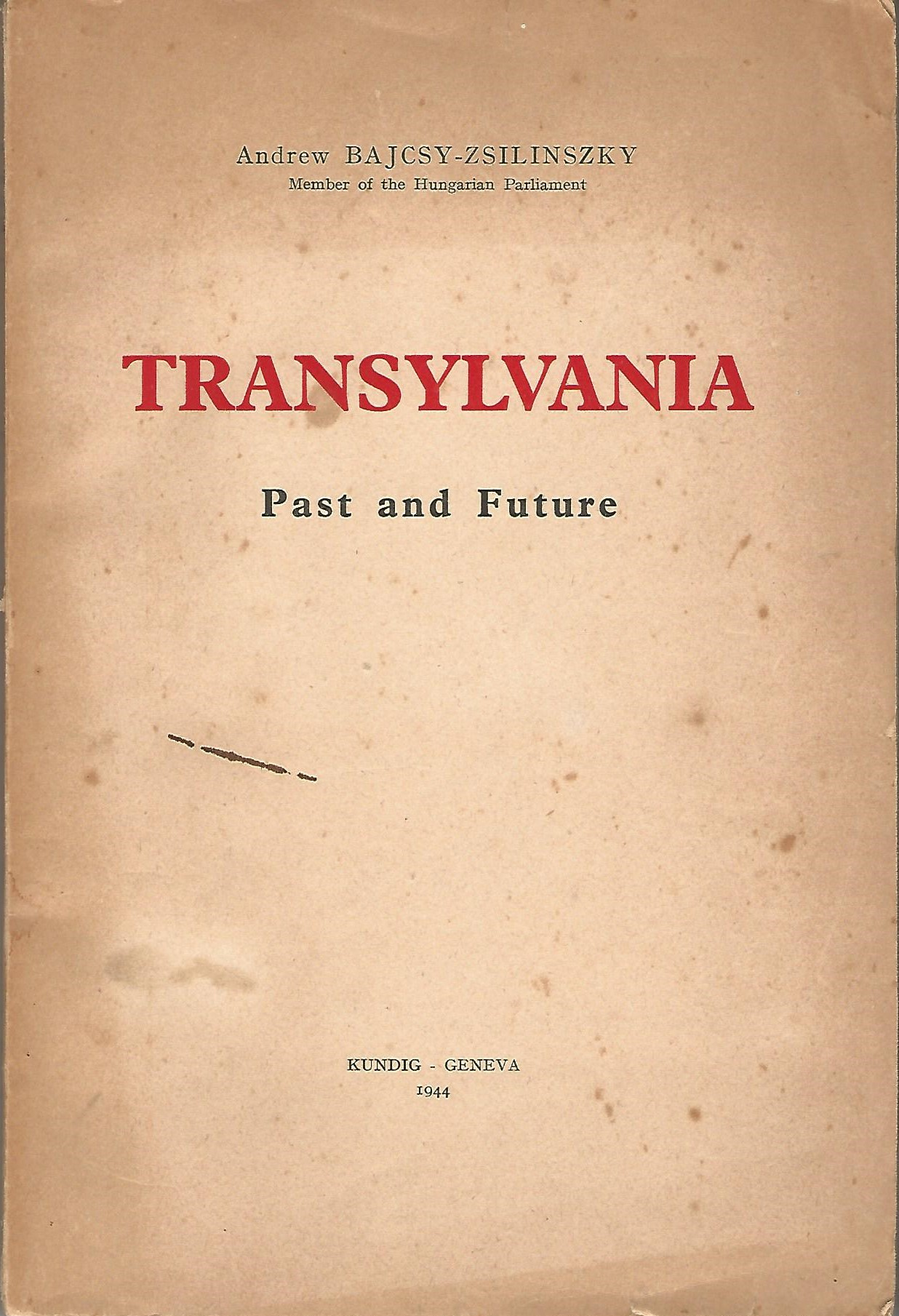 Image for Transylvania: Past and Future.