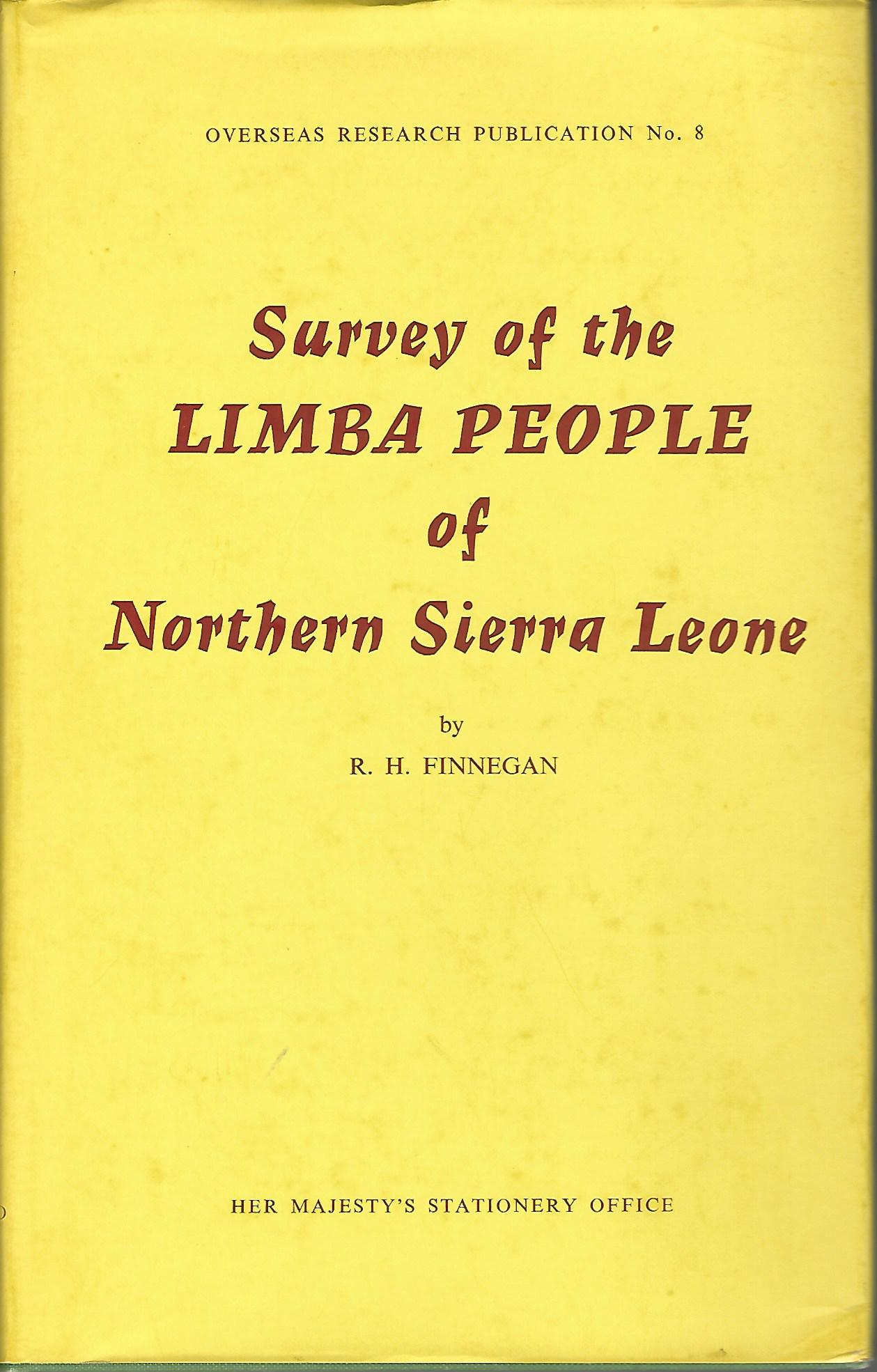 Image for Survey of the Limba People of Northern Sierra Leone.