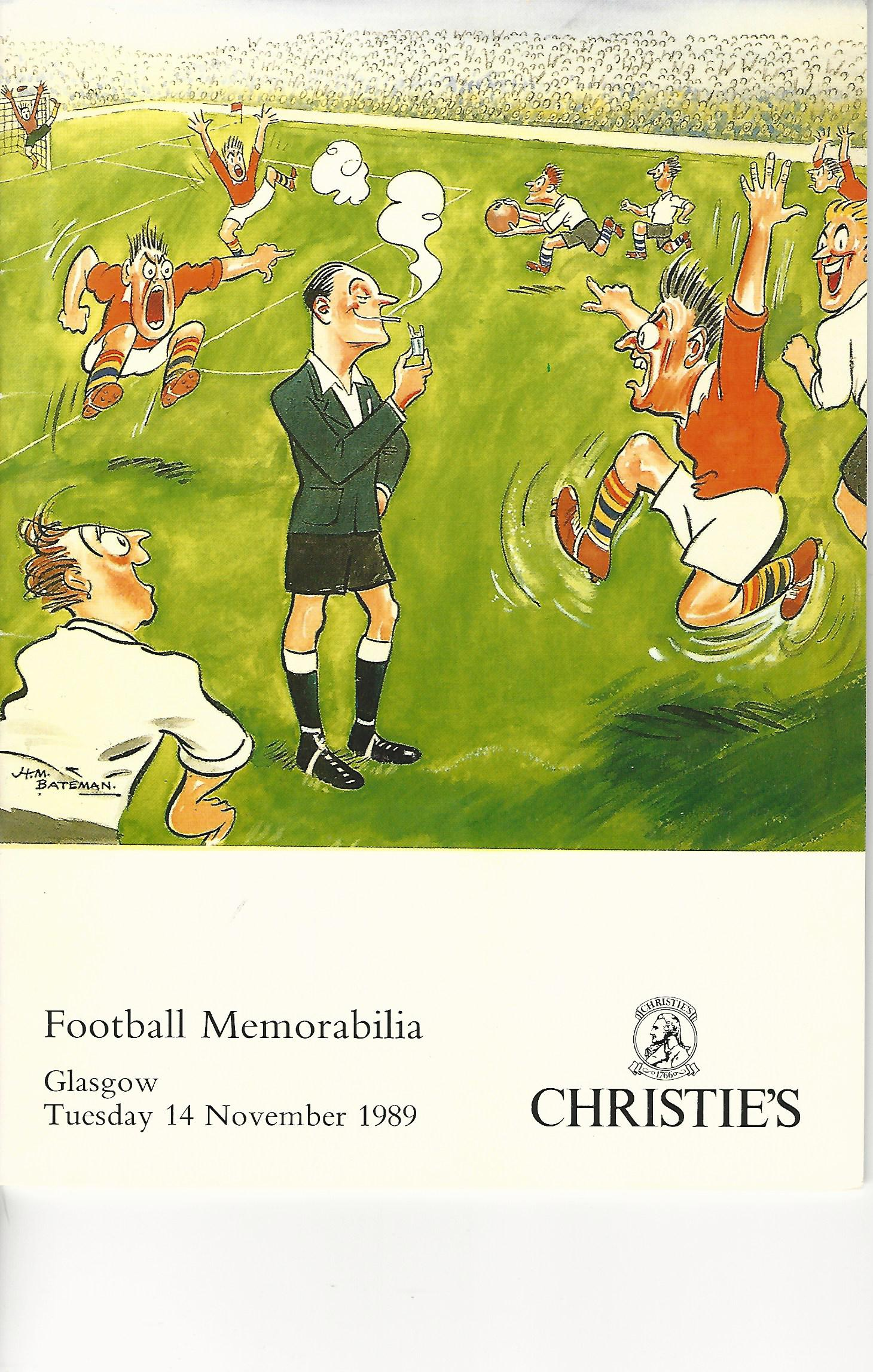 Image for Christie's Football Memorabilia, Tuesday 14 November 1989, Glagow.