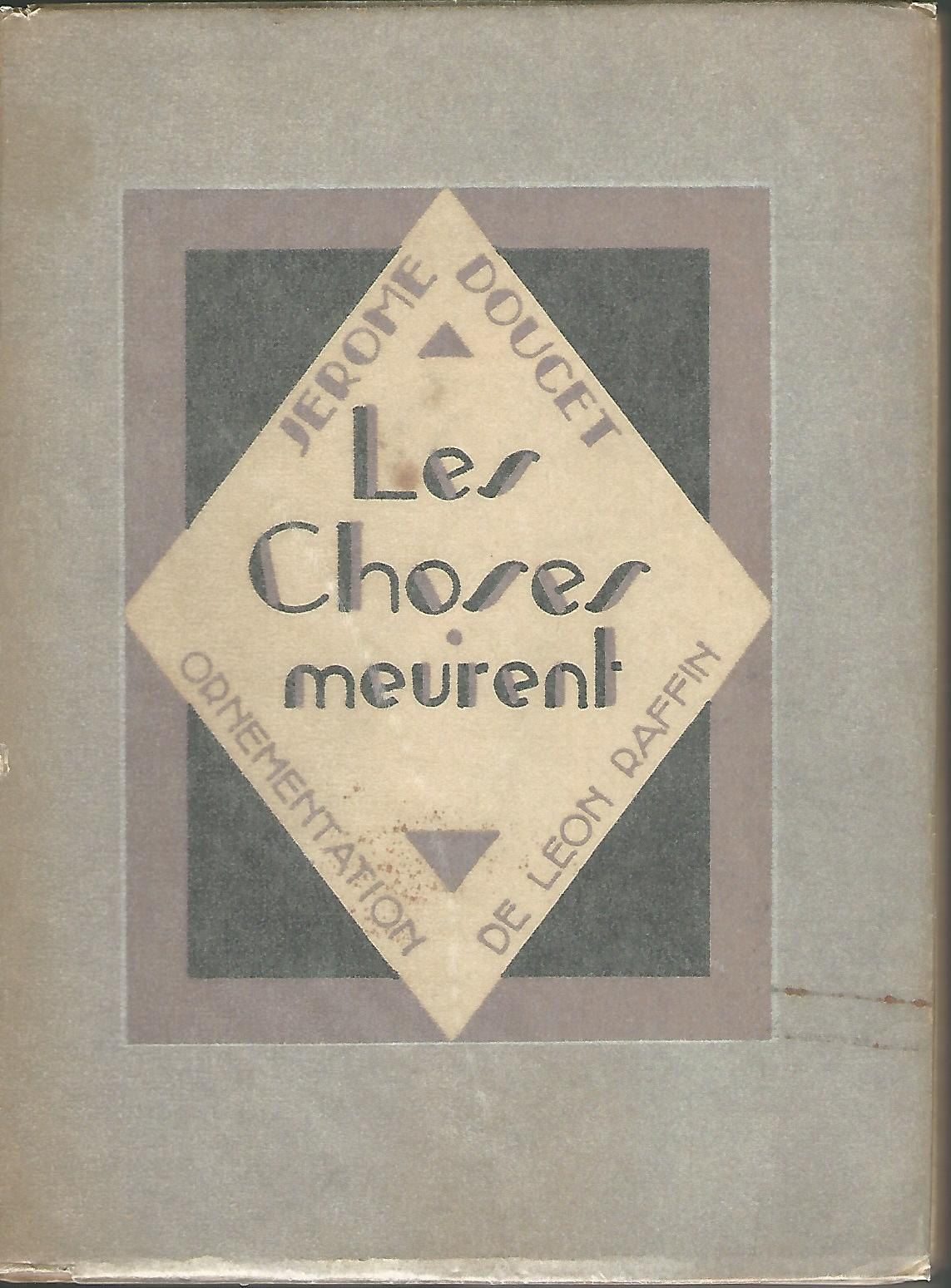 Image for Les Choses Meurent