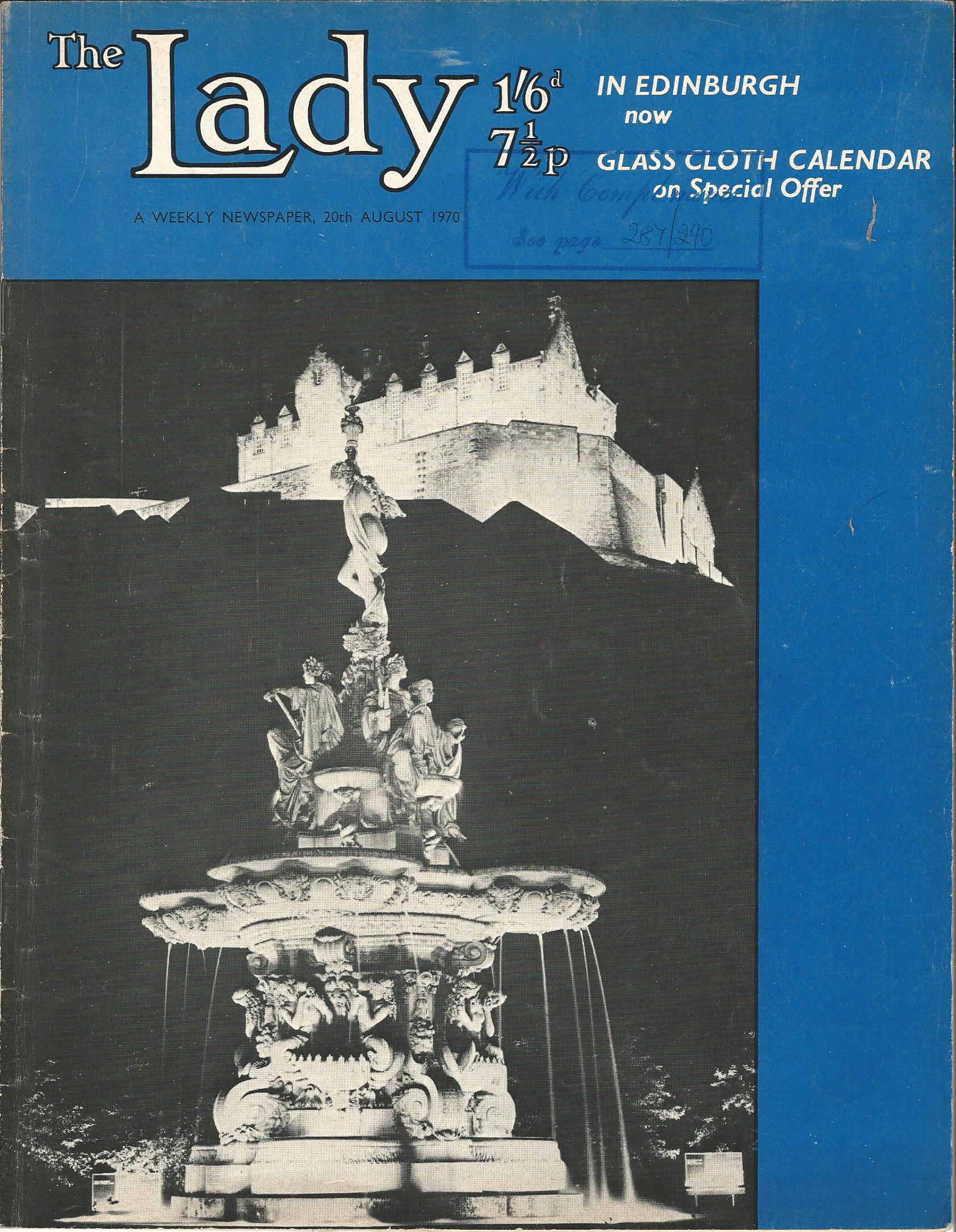 Image for The Lady, A Weekly Newspaper, 20th August 1970.