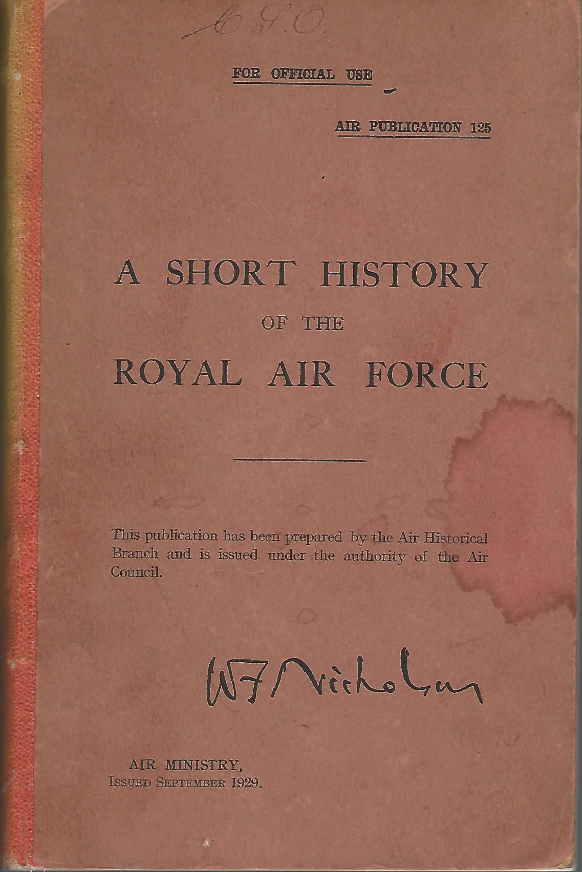 Image for A Short History of the Royal Air Force: Air Publication 125.