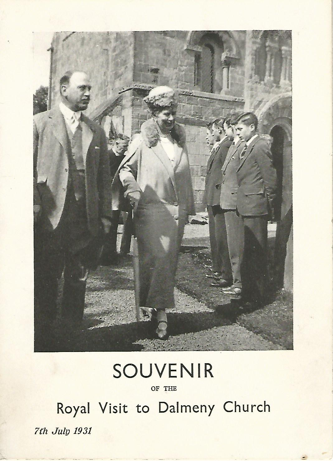 Image for Souvenir of the Royal Visit to Dalmeny Church, 7th July 1931.