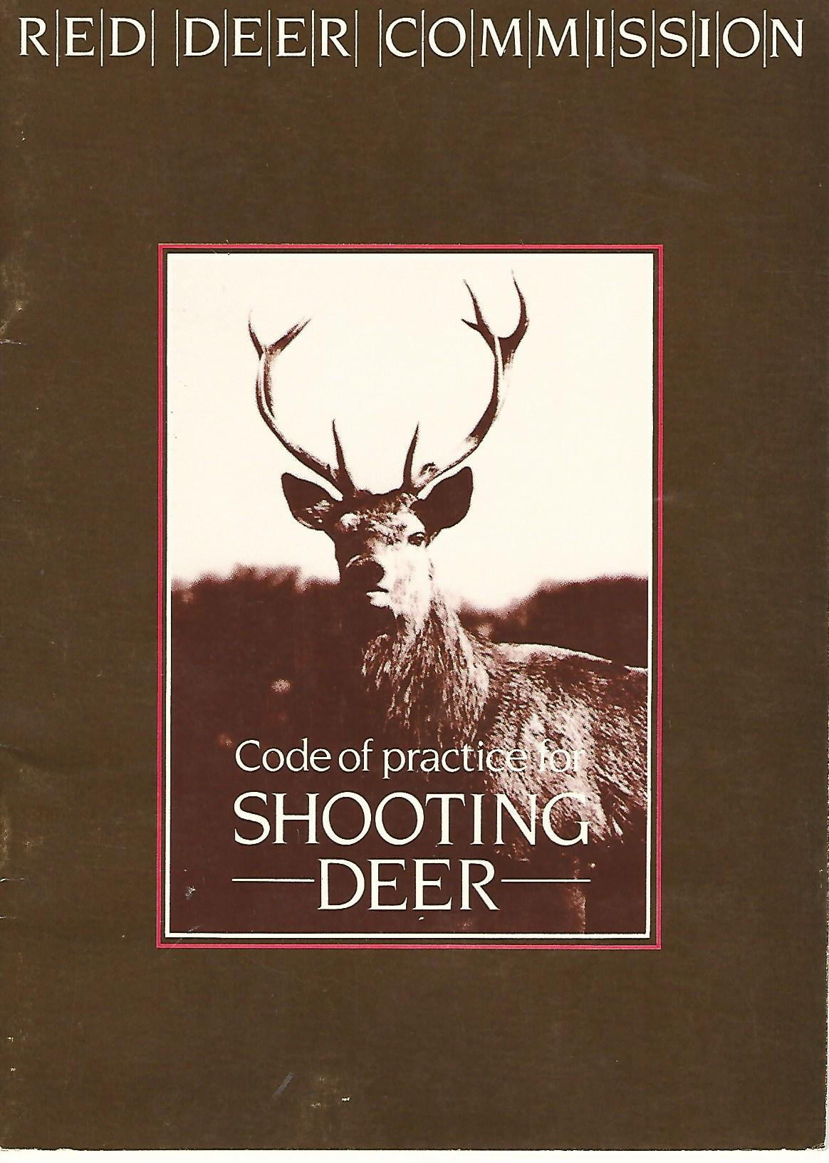 Image for Code of Practice for Shooting Deer.