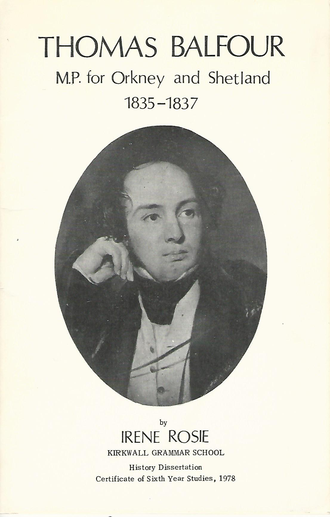 Image for Thomas Balfour: M.P. for Orkney and Shetland 1835 - 1837.