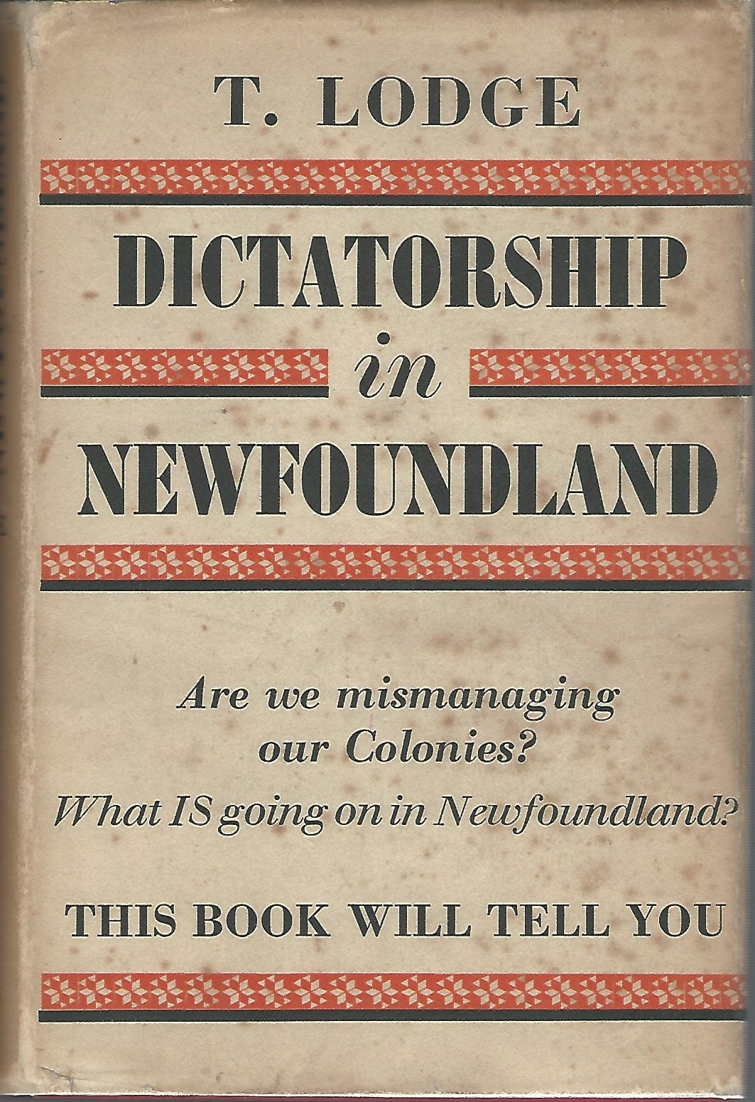 Image for Dictatorship in Newfoundland.
