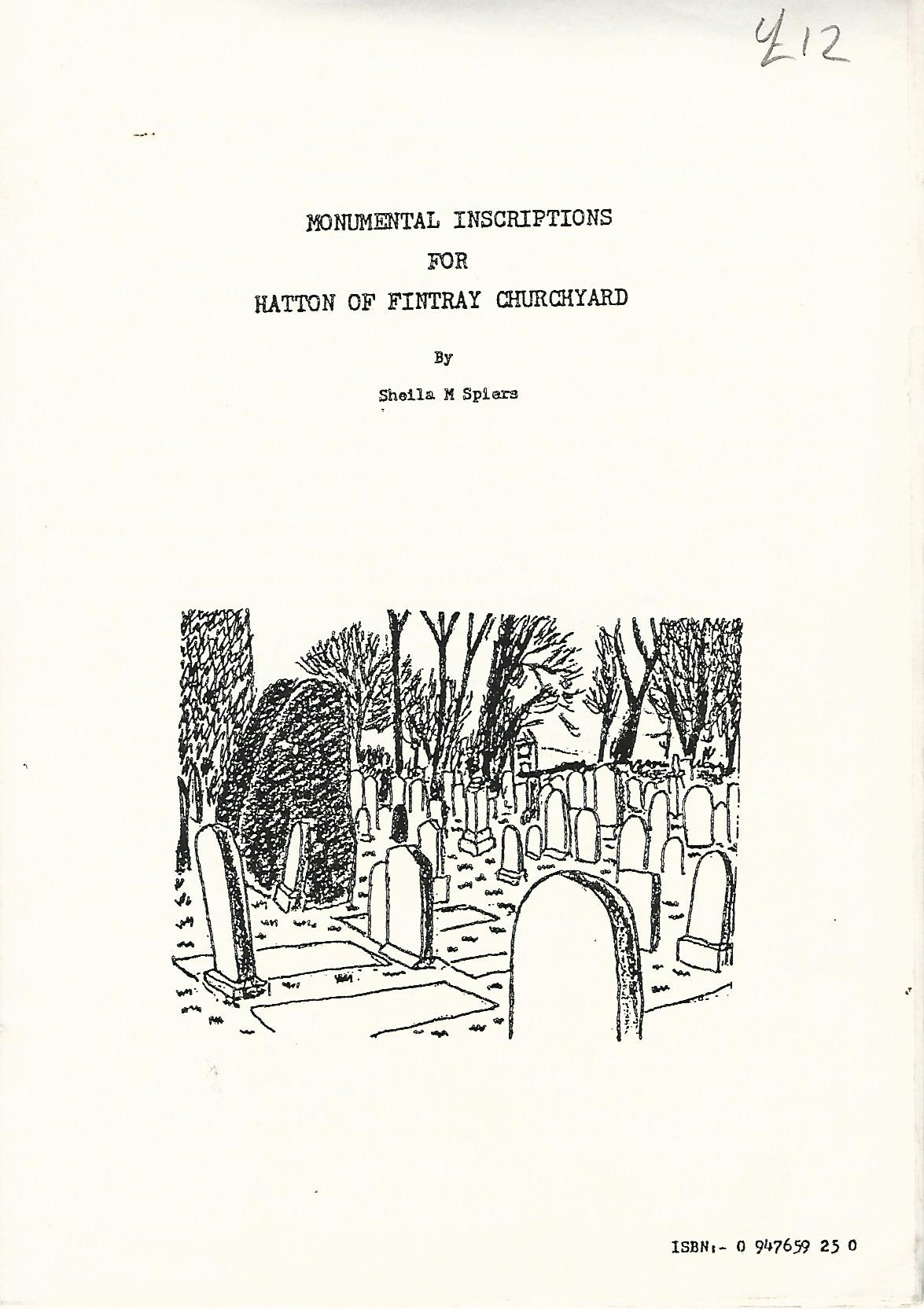 Image for Monumental Inscriptions for Hatton of Fintray Churchyard.