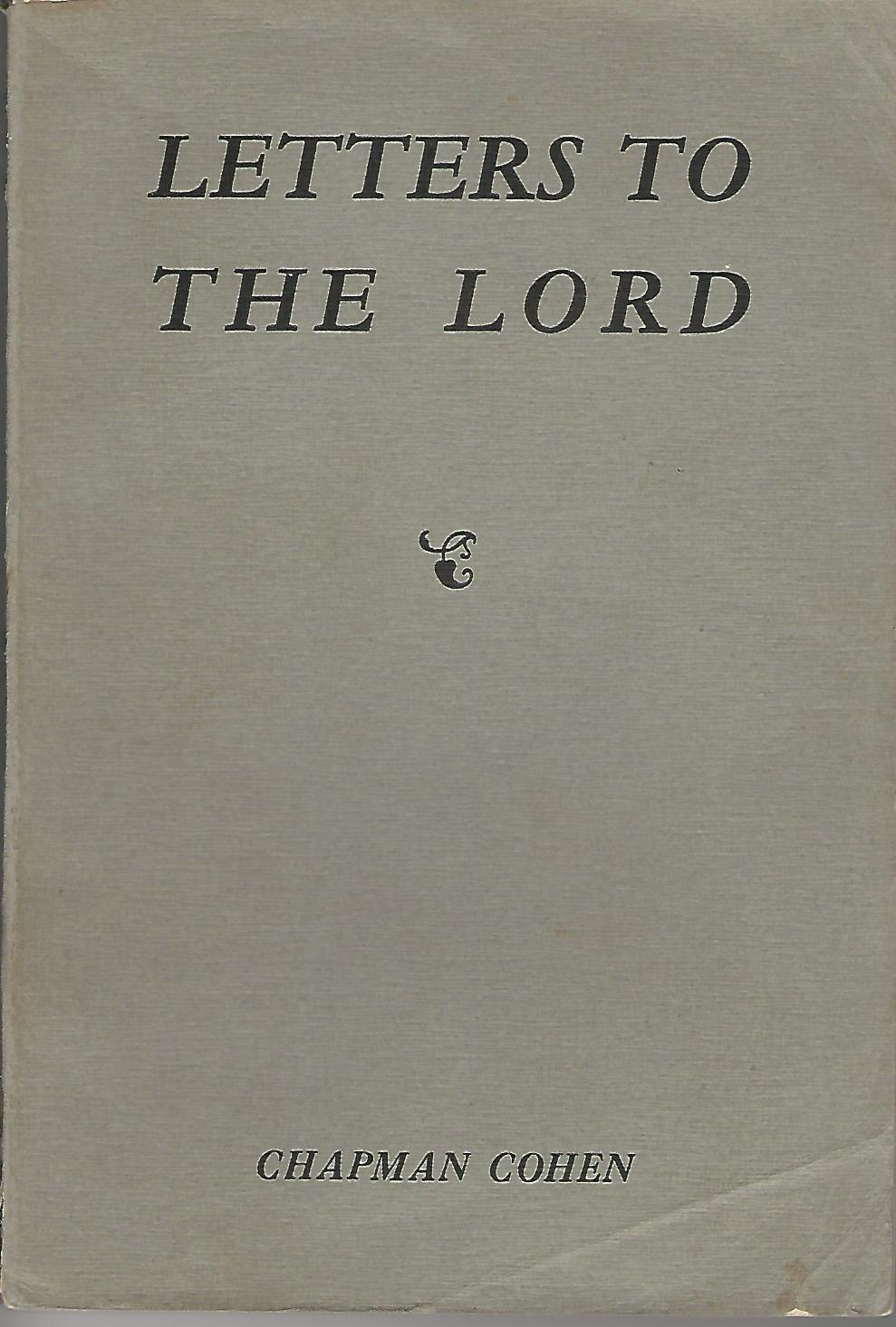 Image for Letters to the Lord.