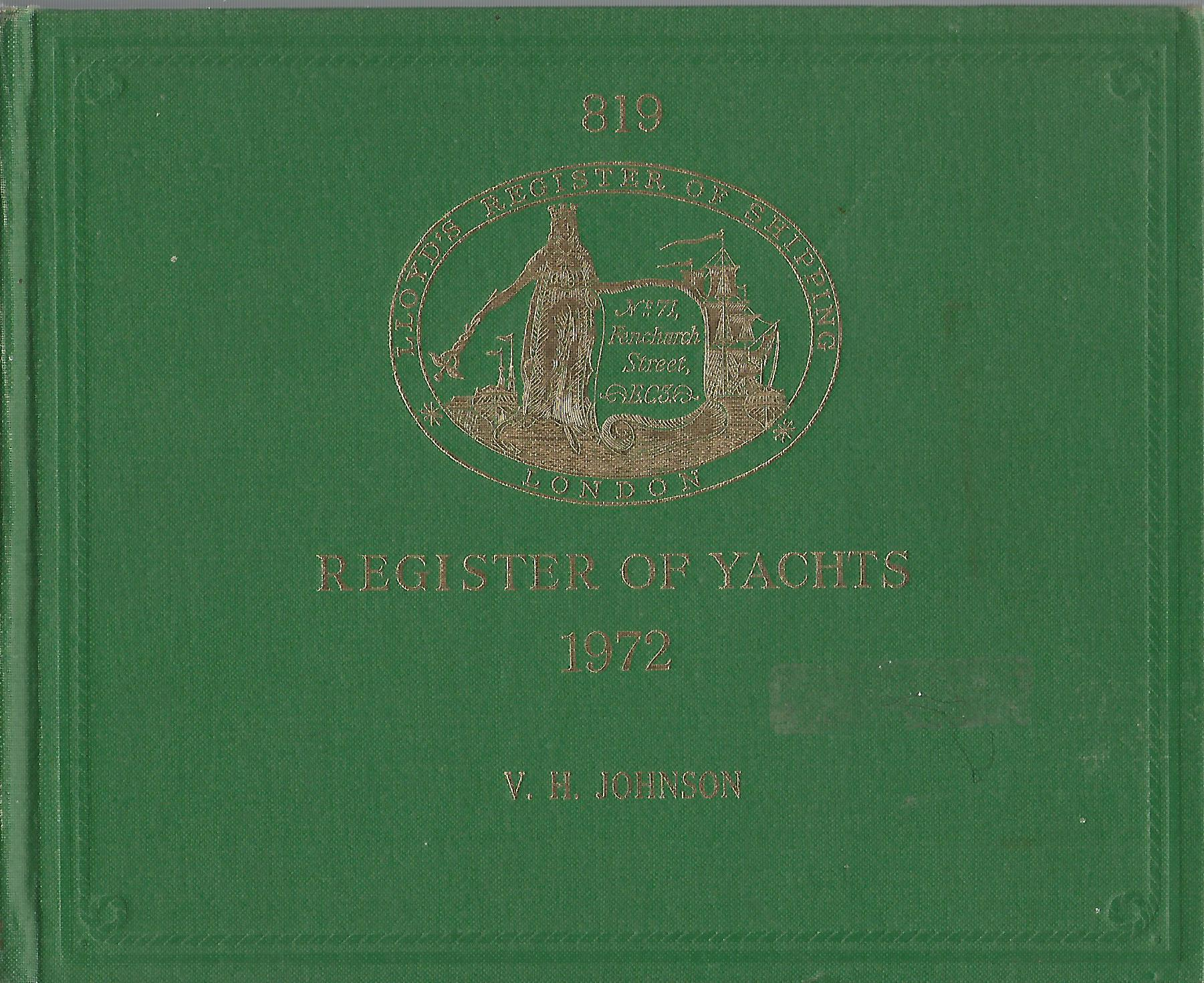 Image for Lloyd's Register of Yachts 1972.