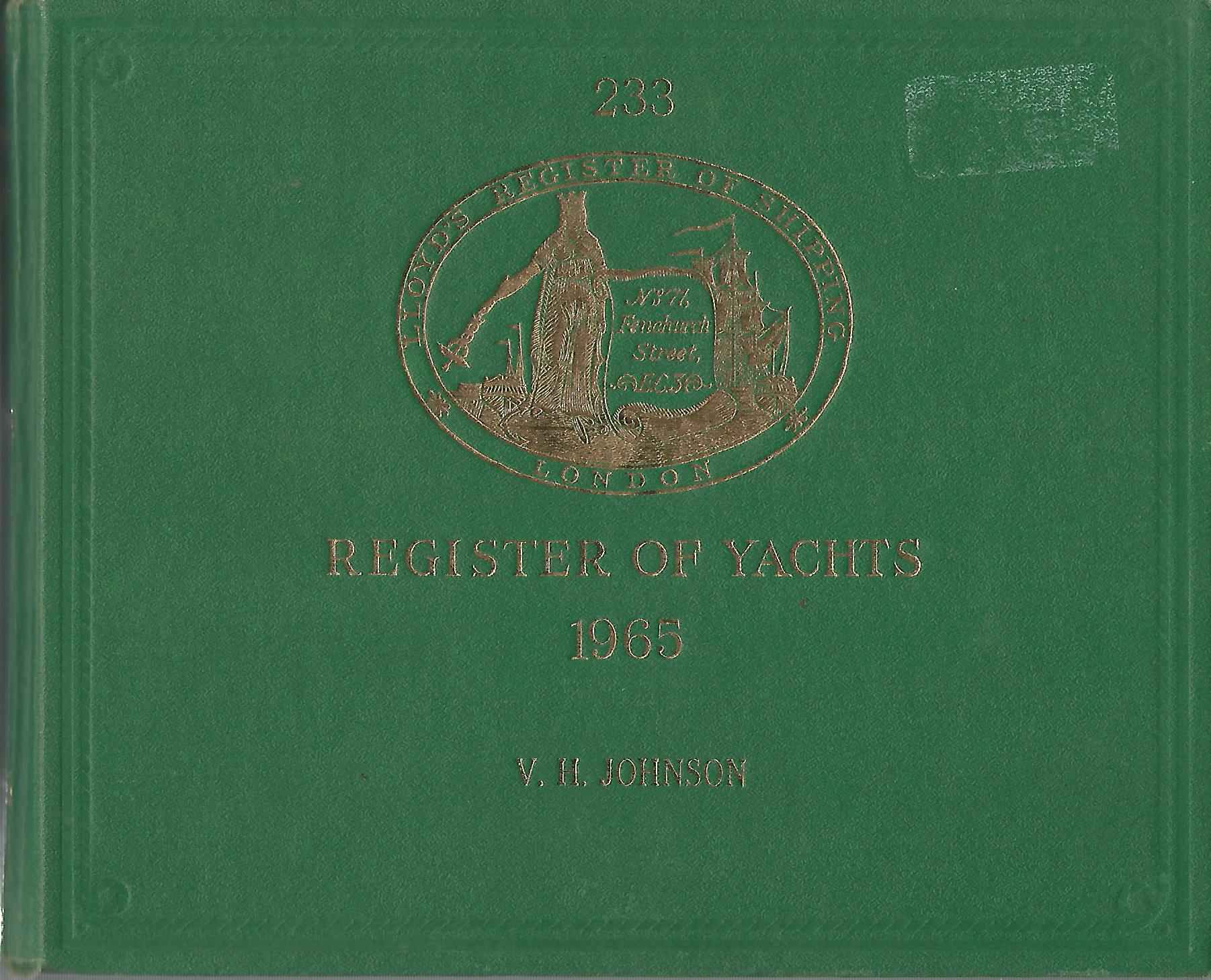 Image for Lloyd's Register of Yachts 1965.