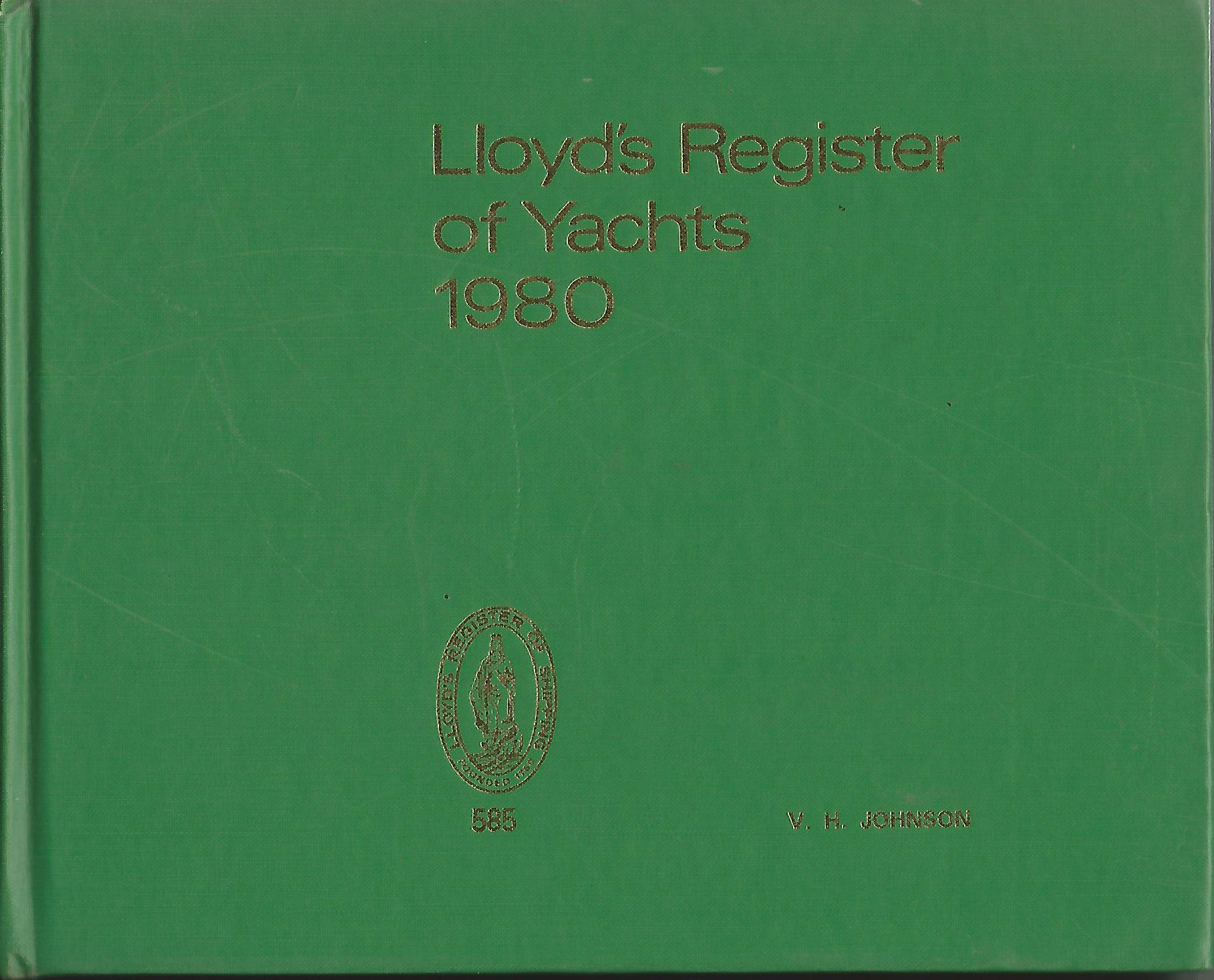 Image for Lloyd's Register of Yachts 1980.