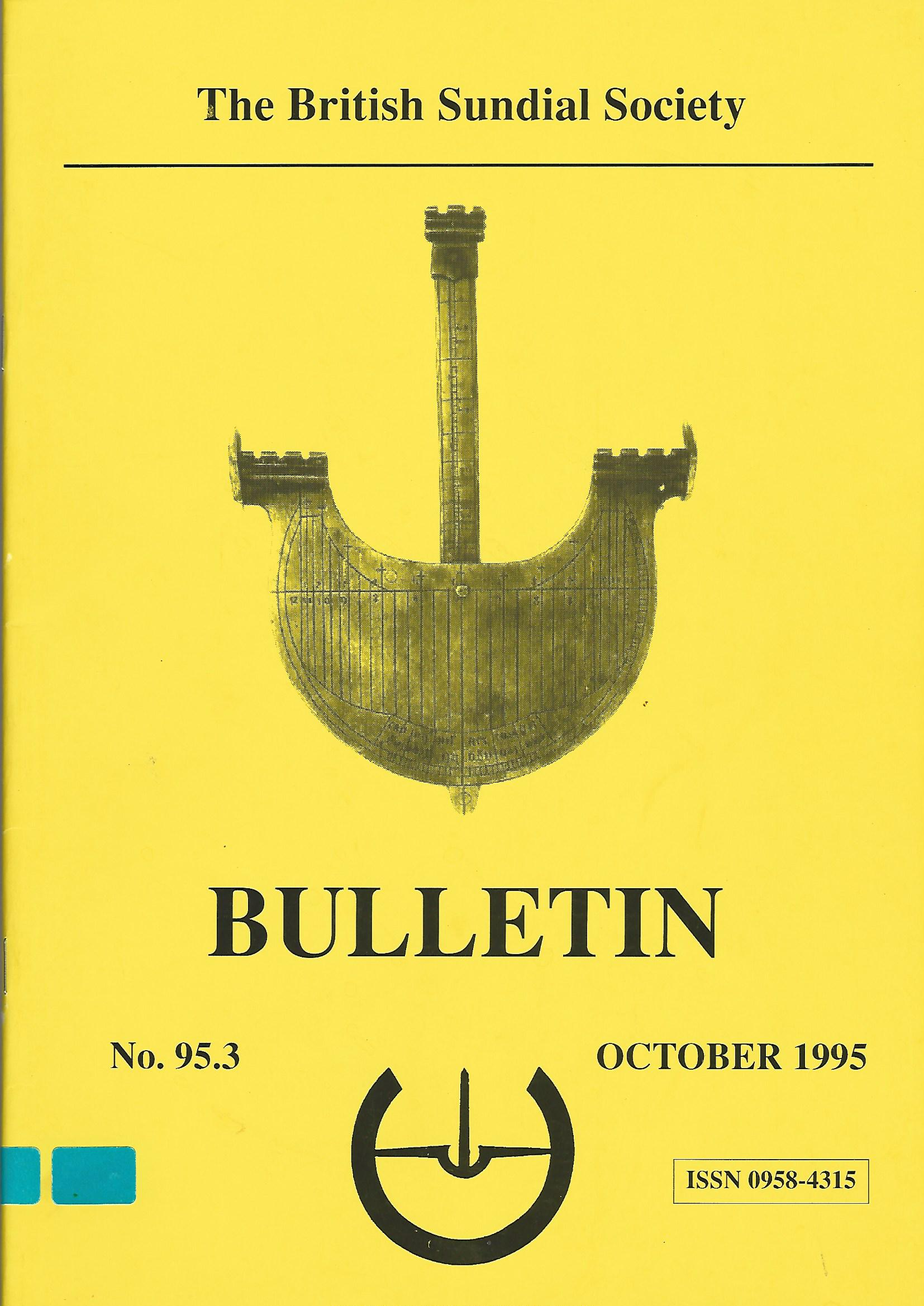 Image for The British Sundial Society Bulletin No. 95.3, October 1995.