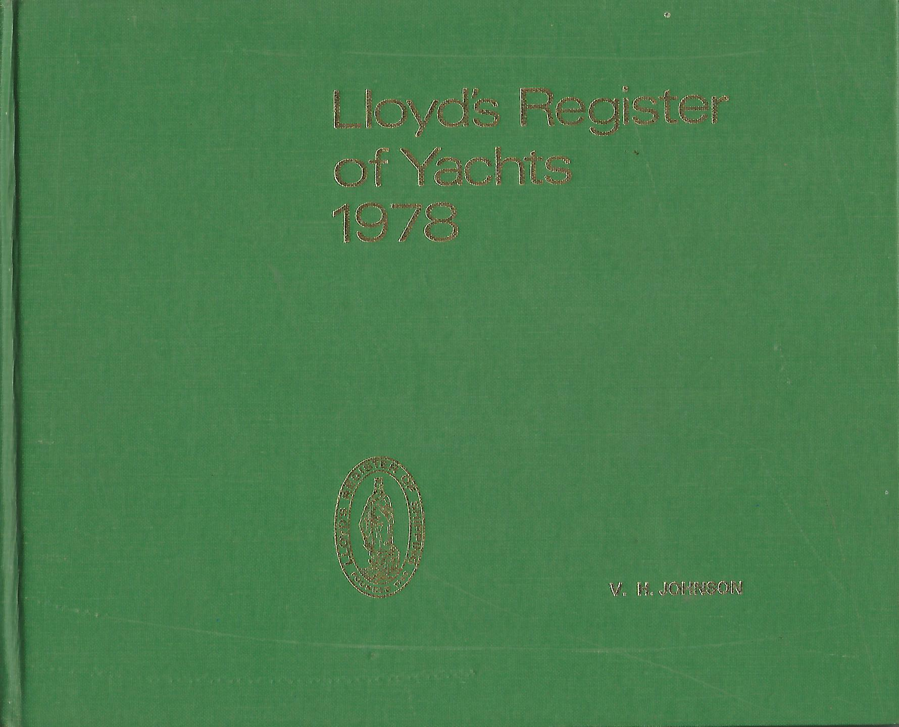 Image for Lloyd's Register of Yachts 1978.