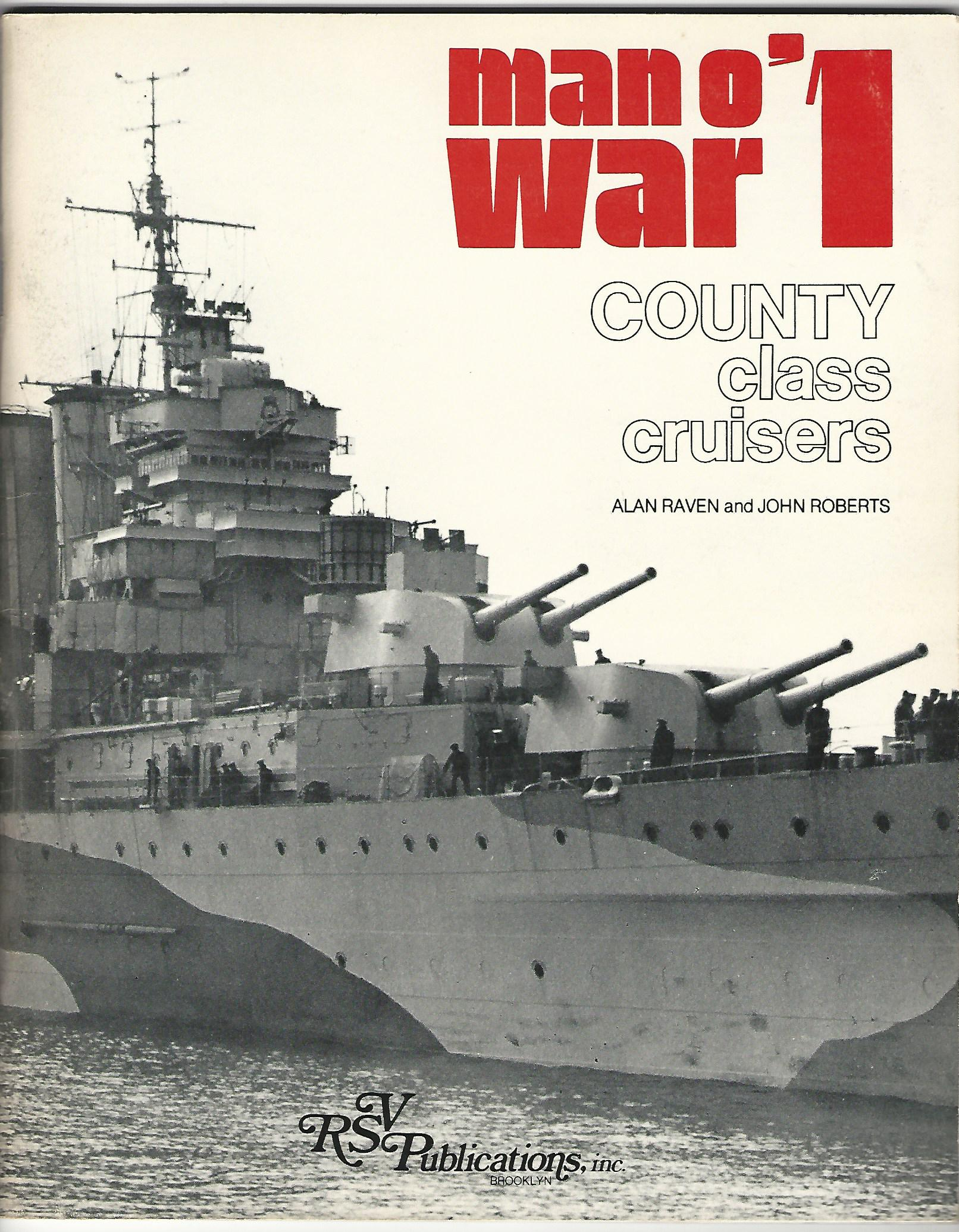 Image for Man o'War1: County Class Cruisers.