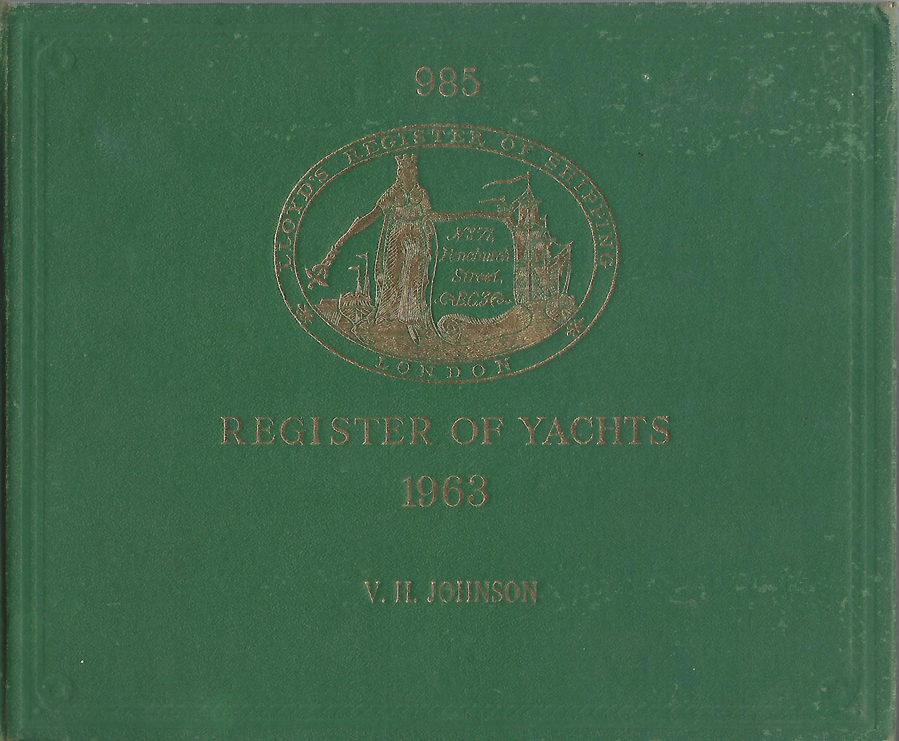 Image for Lloyd's Register of Yachts 1963.