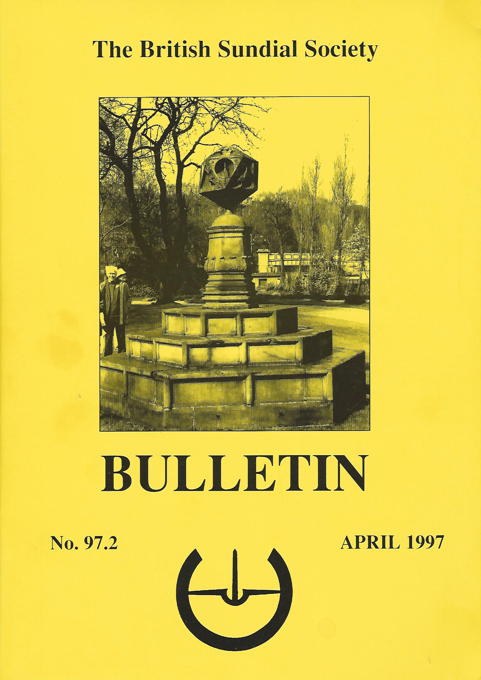 Image for The British Sundial Society Bulletin No.97.2.